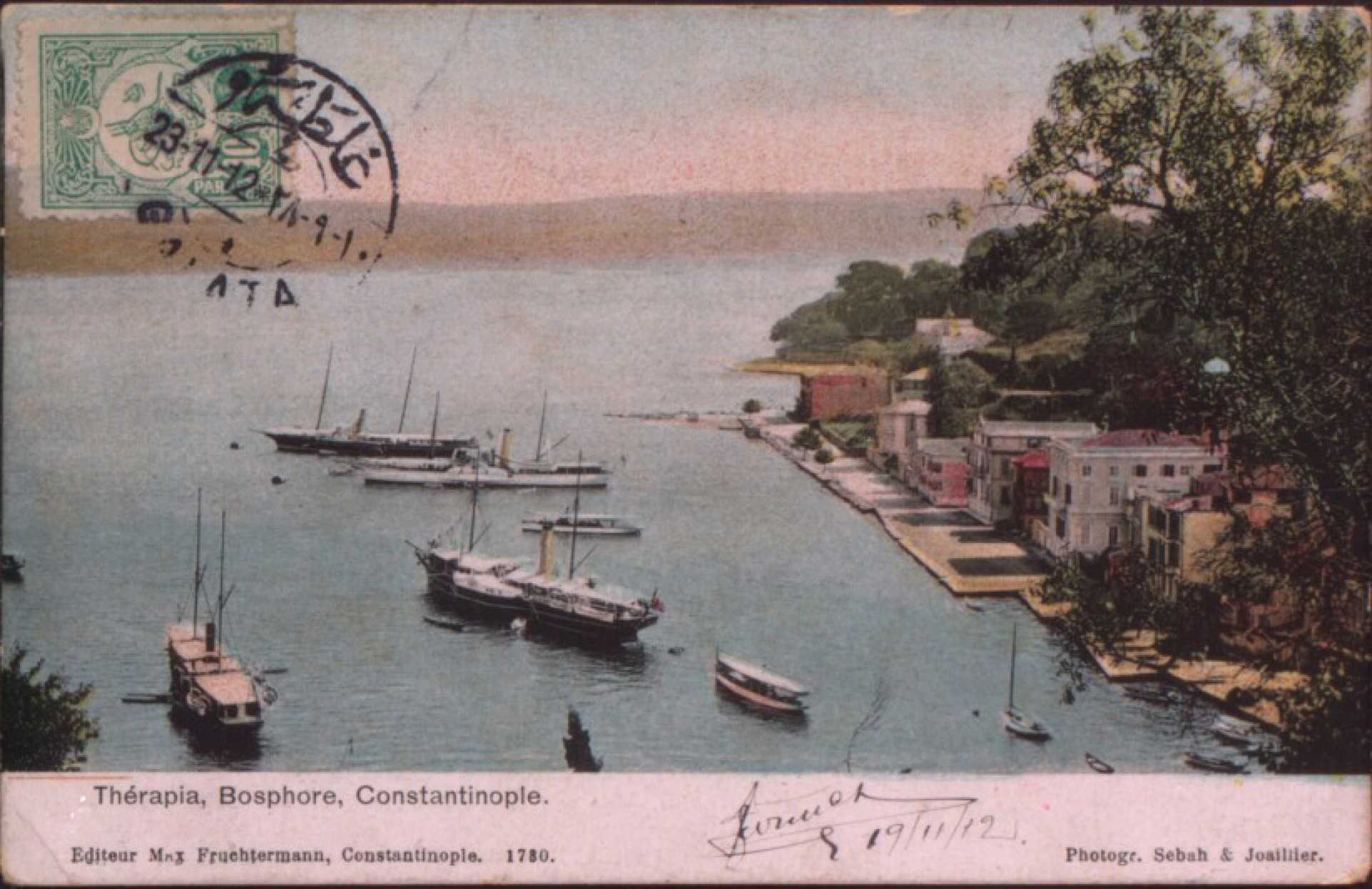 Therapia. Bosphore. Constantinople.