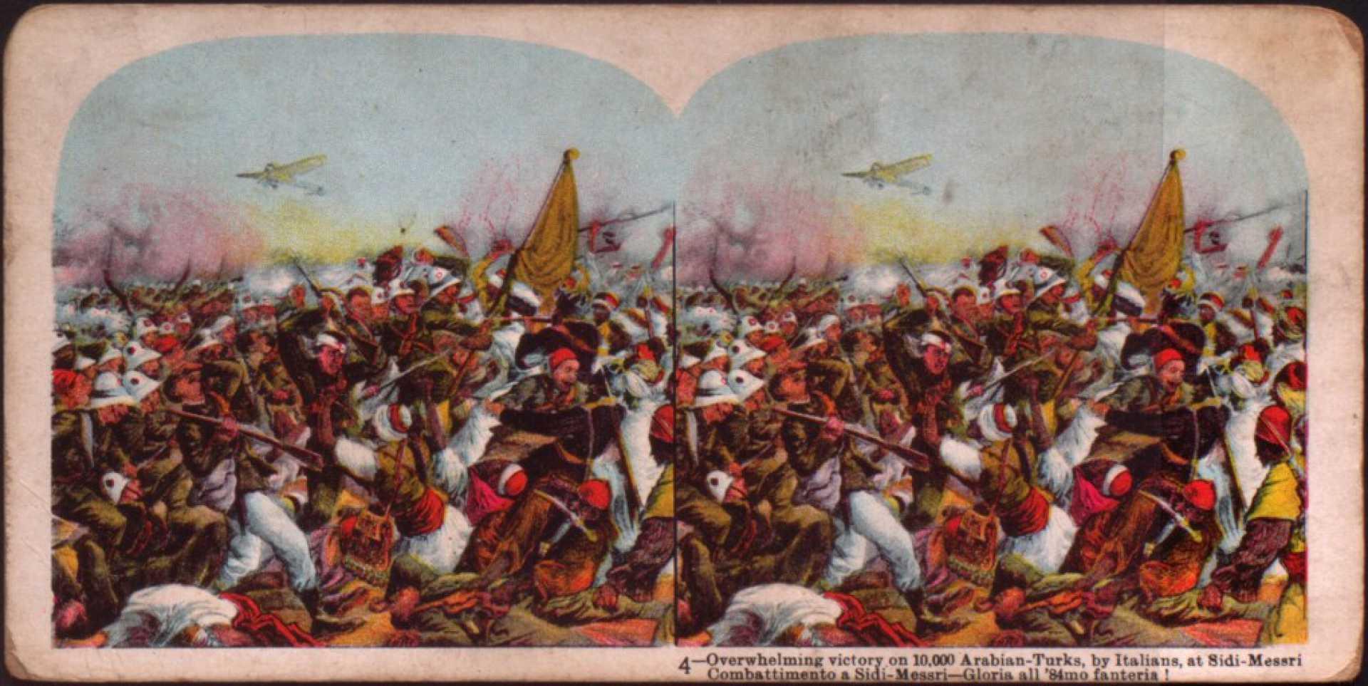 Overhelming victory on 10.000 Arabian-Turks. by Italians at Sidi-Messri