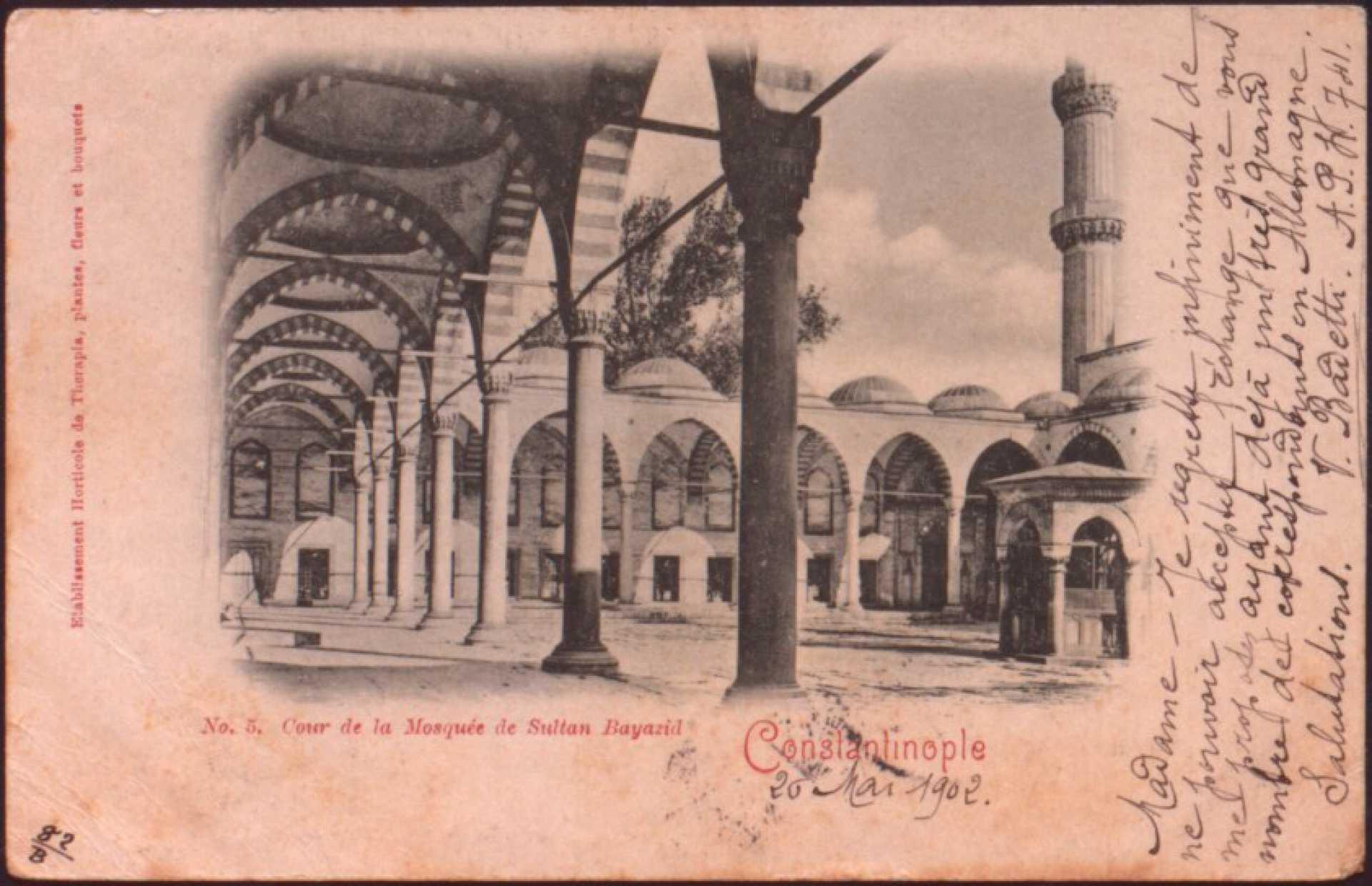 Cour de la Mosquee de Sultan Beyazid