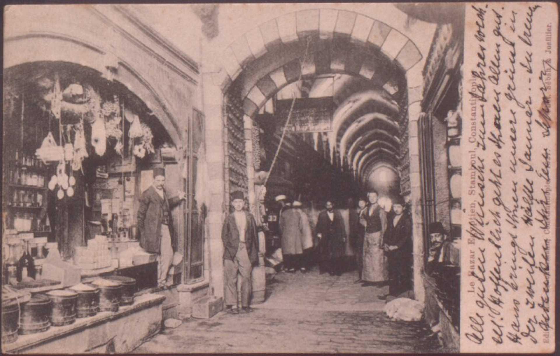 Le Bazar Egyptien. Stamboul. Constantinople