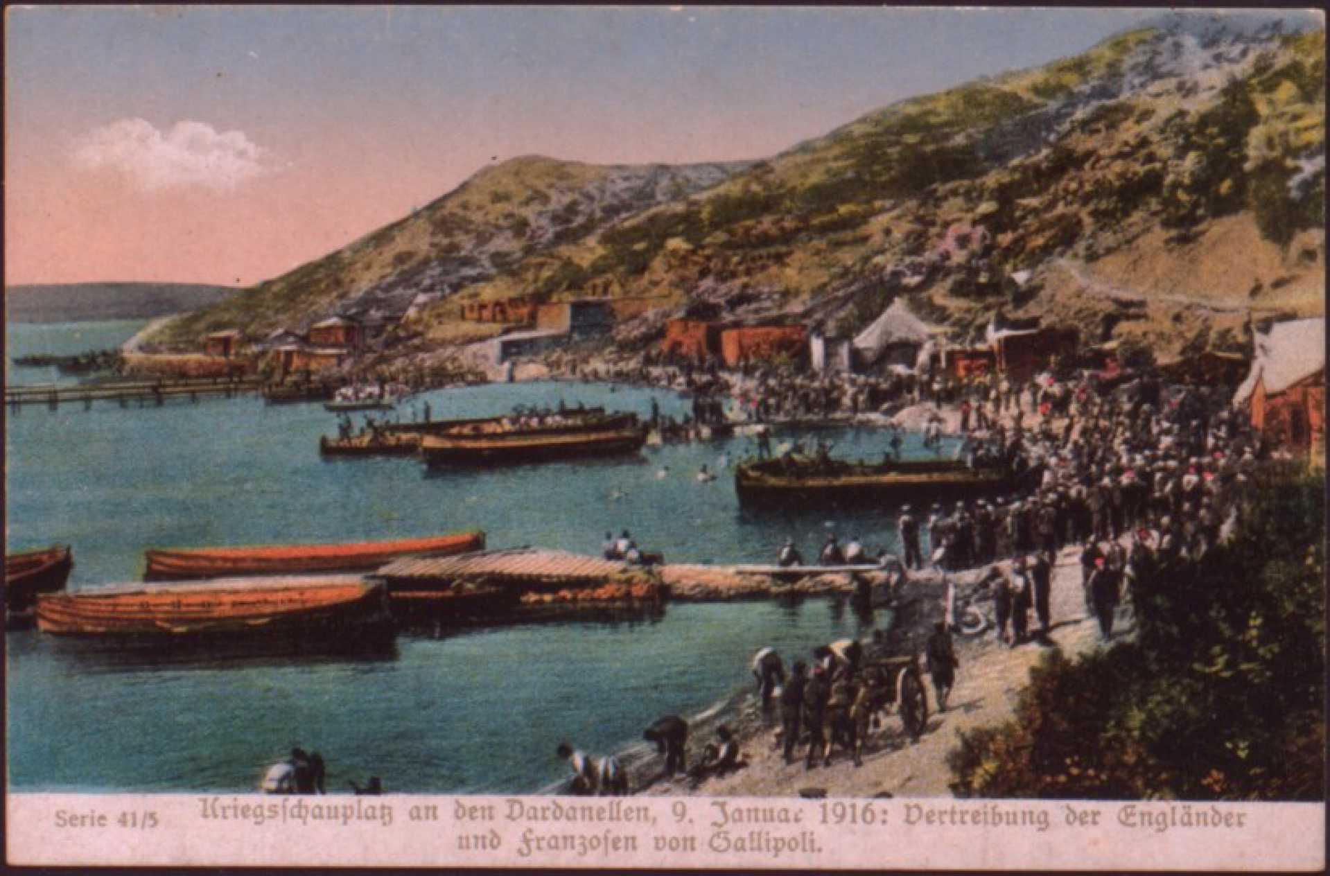 Kriegsfchauplaz an den Dardanellen