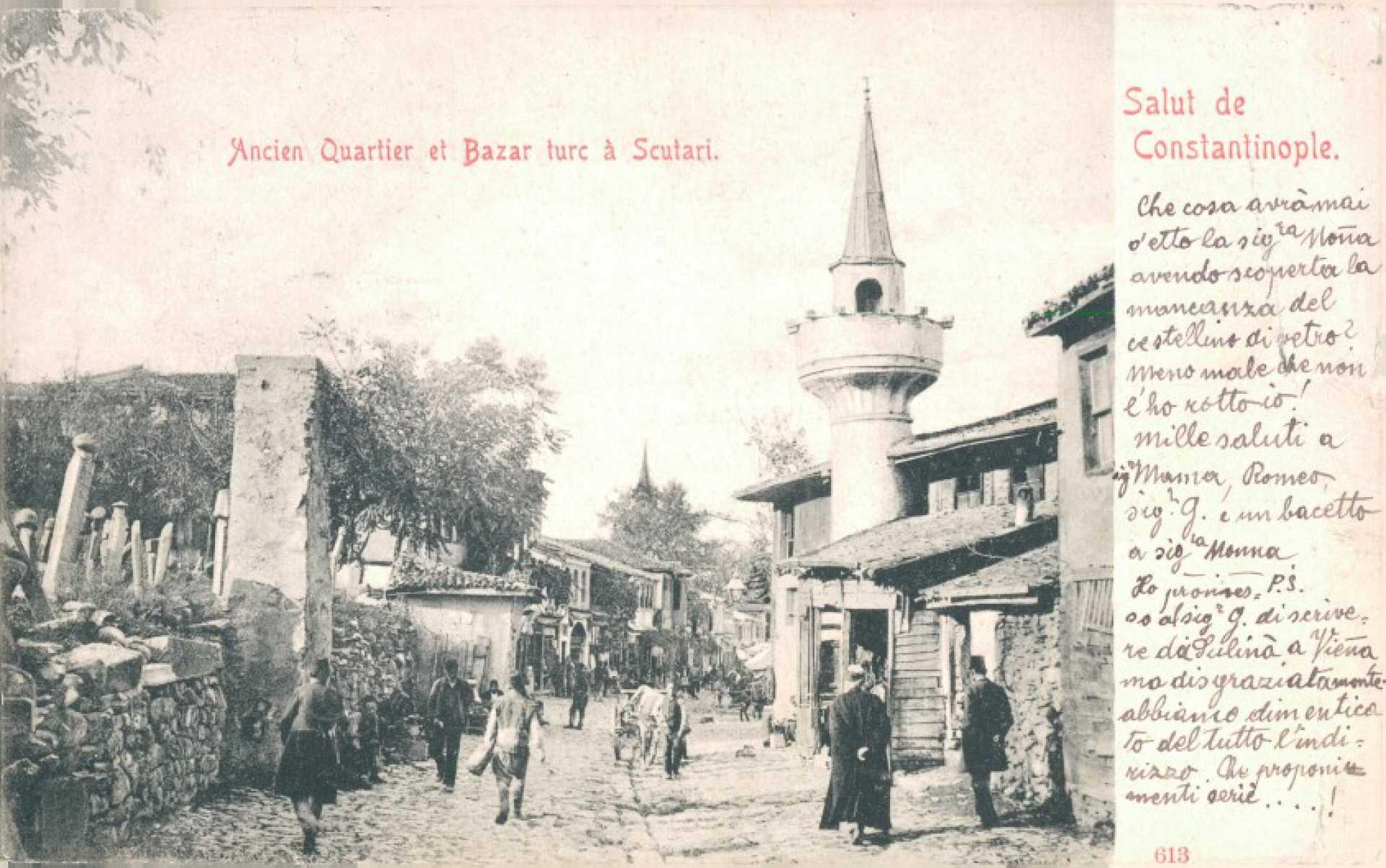 Ancien quartier et bazar turc a Scutari