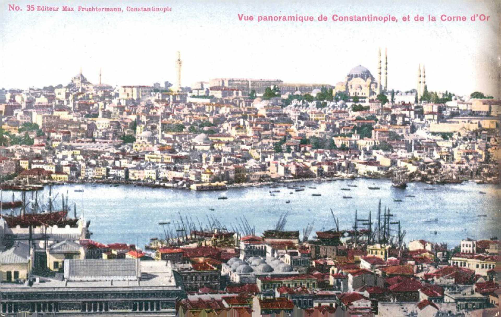Vue panoramique de Constantinople. et de la Corne d'OR