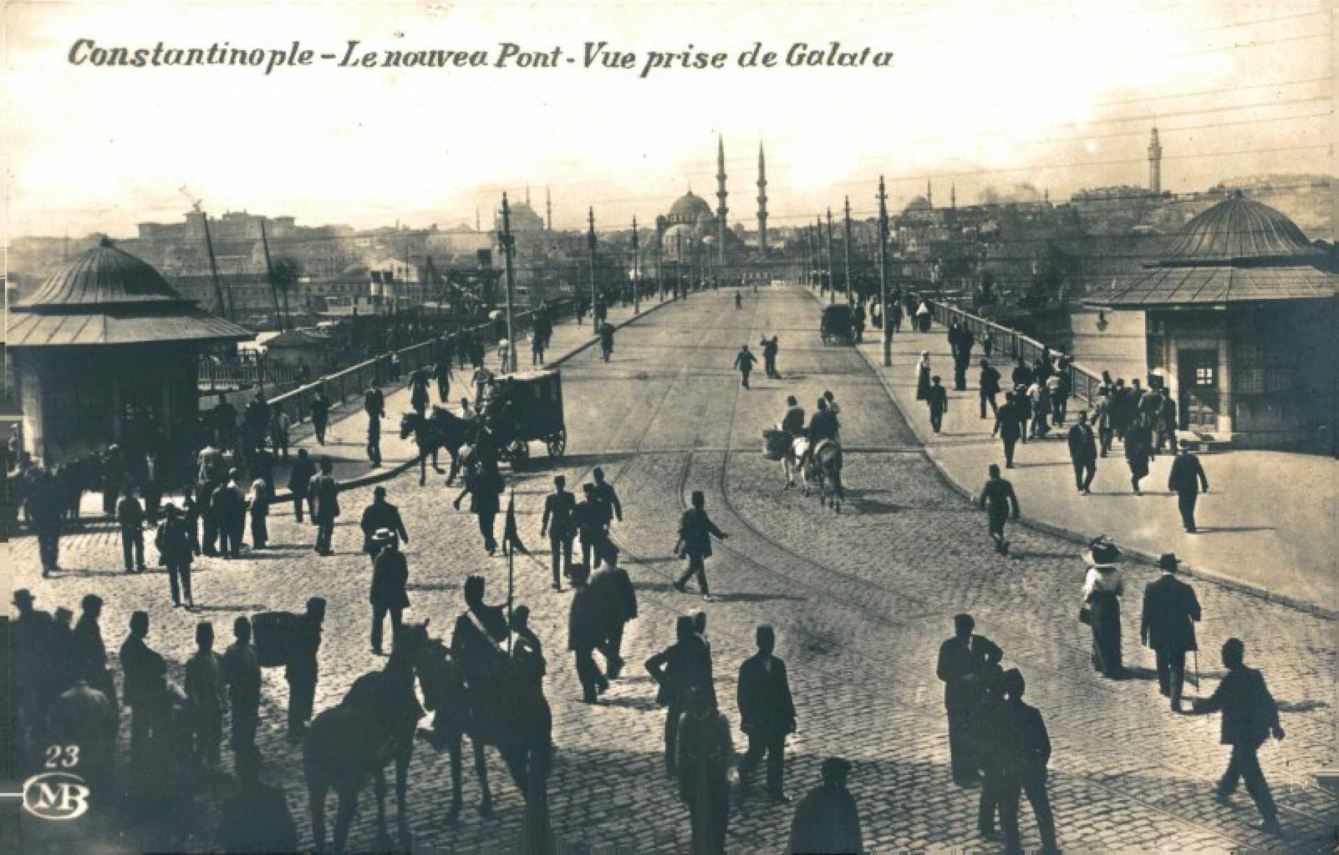 Le nouvea pont – vue prise de Galata