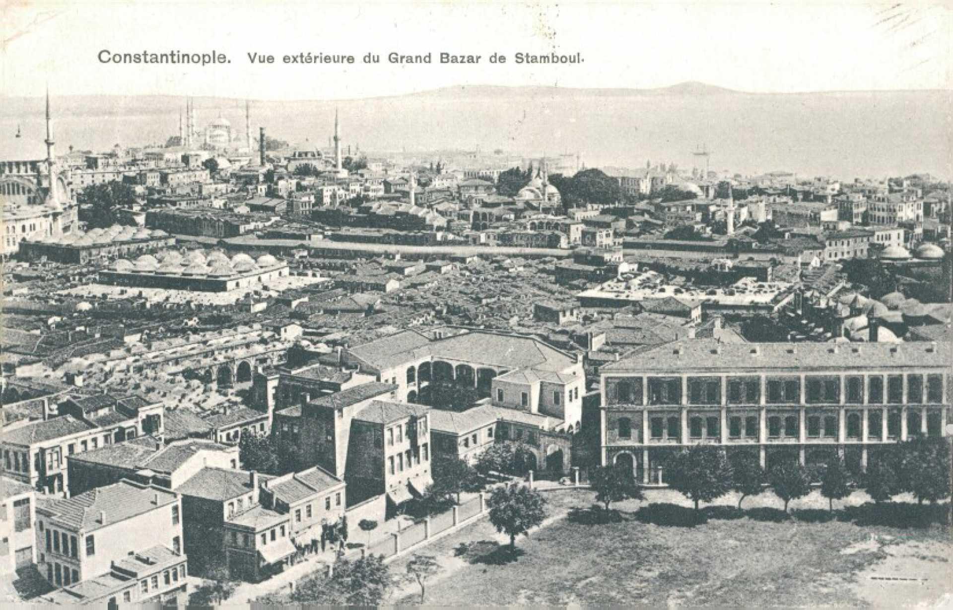 Vue exterieure du grand bazar de Stamboul