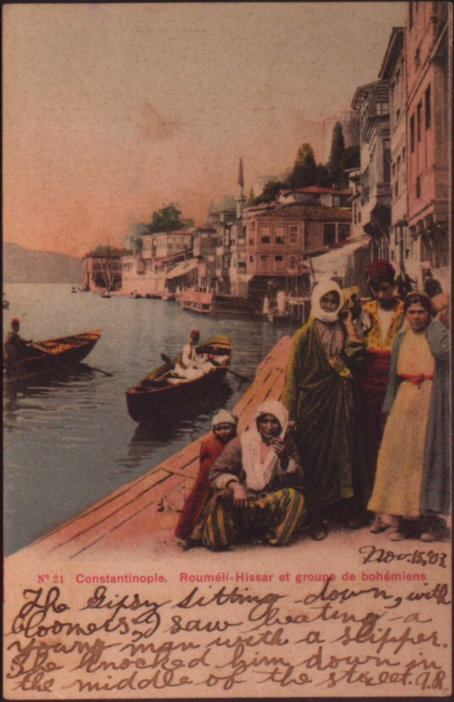 Roumeli-Hissar et groupe de bohemiens
