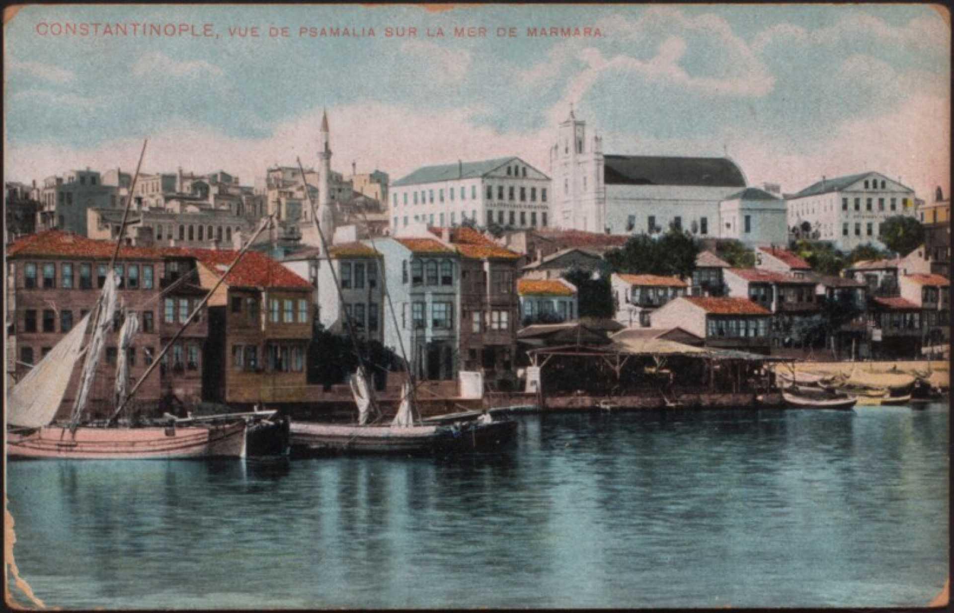 Vue de Psamalia sur la mer de Marmara