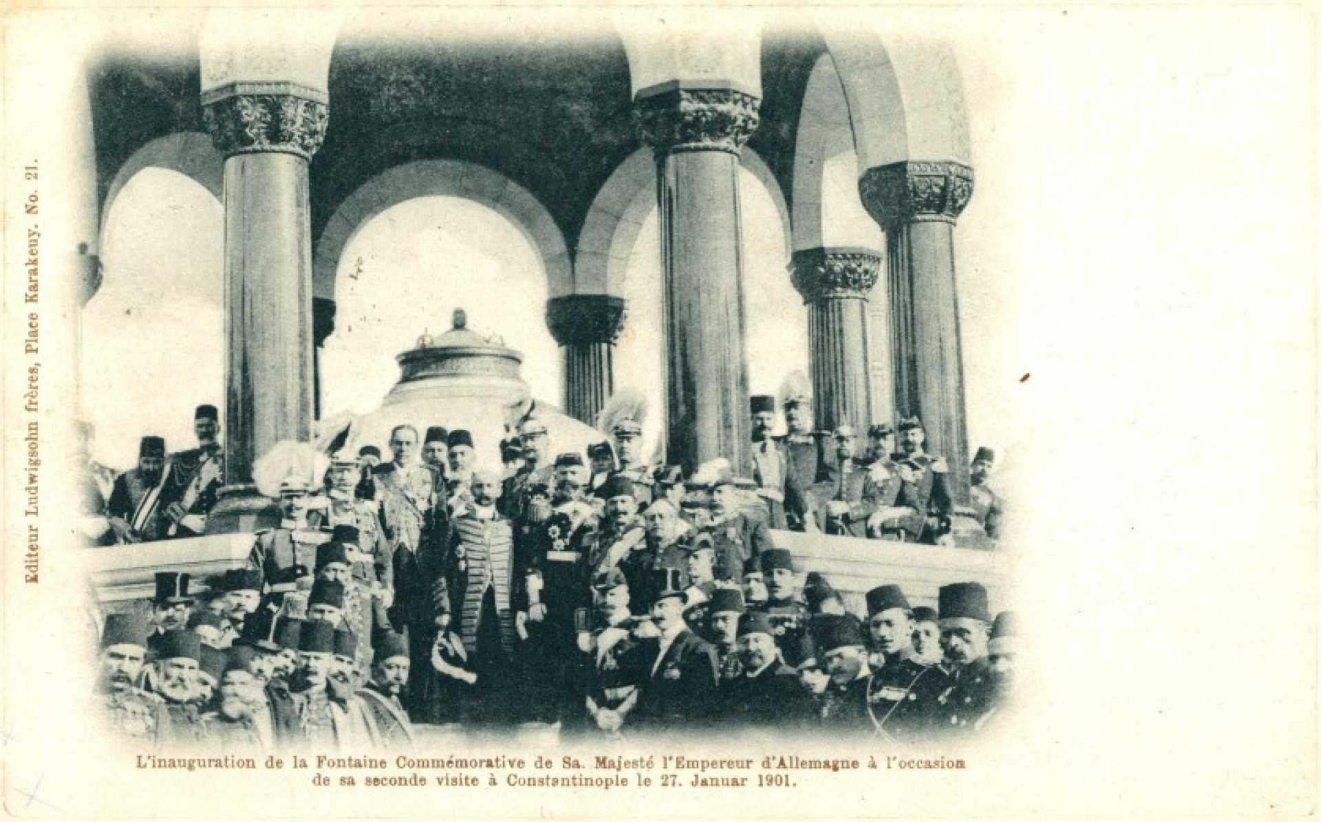 L'inauguration de la Fontaine Commemorative de Sa. Majeste l'Empereur d'Allemagne a l'occasion de sa seconde visite a Constantinople
