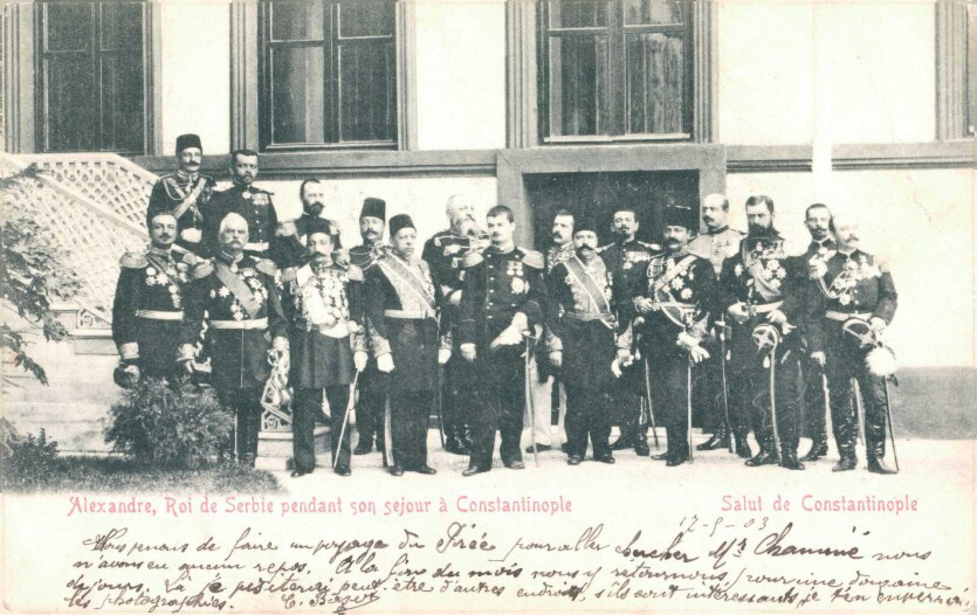 Alexandre. Roi de Serbie pendant son sejour a Constantinople