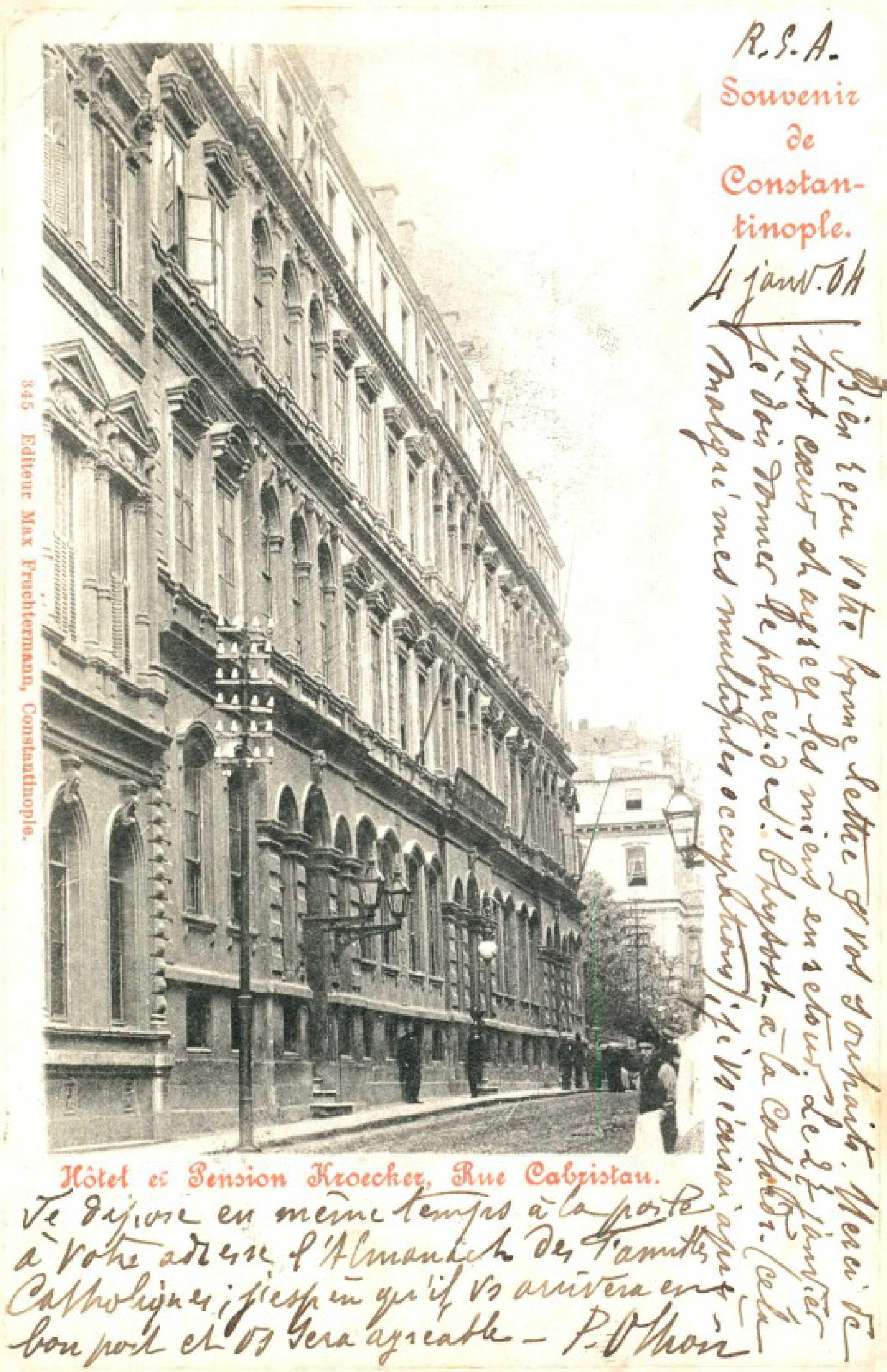 Hotel et Pension Kroecher. Rue Cabristan
