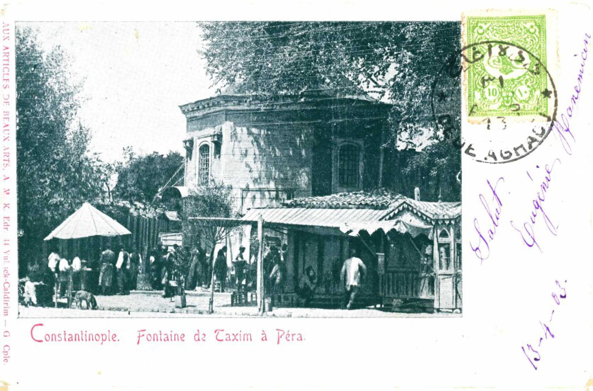 Fontaine de Taxim a Pera