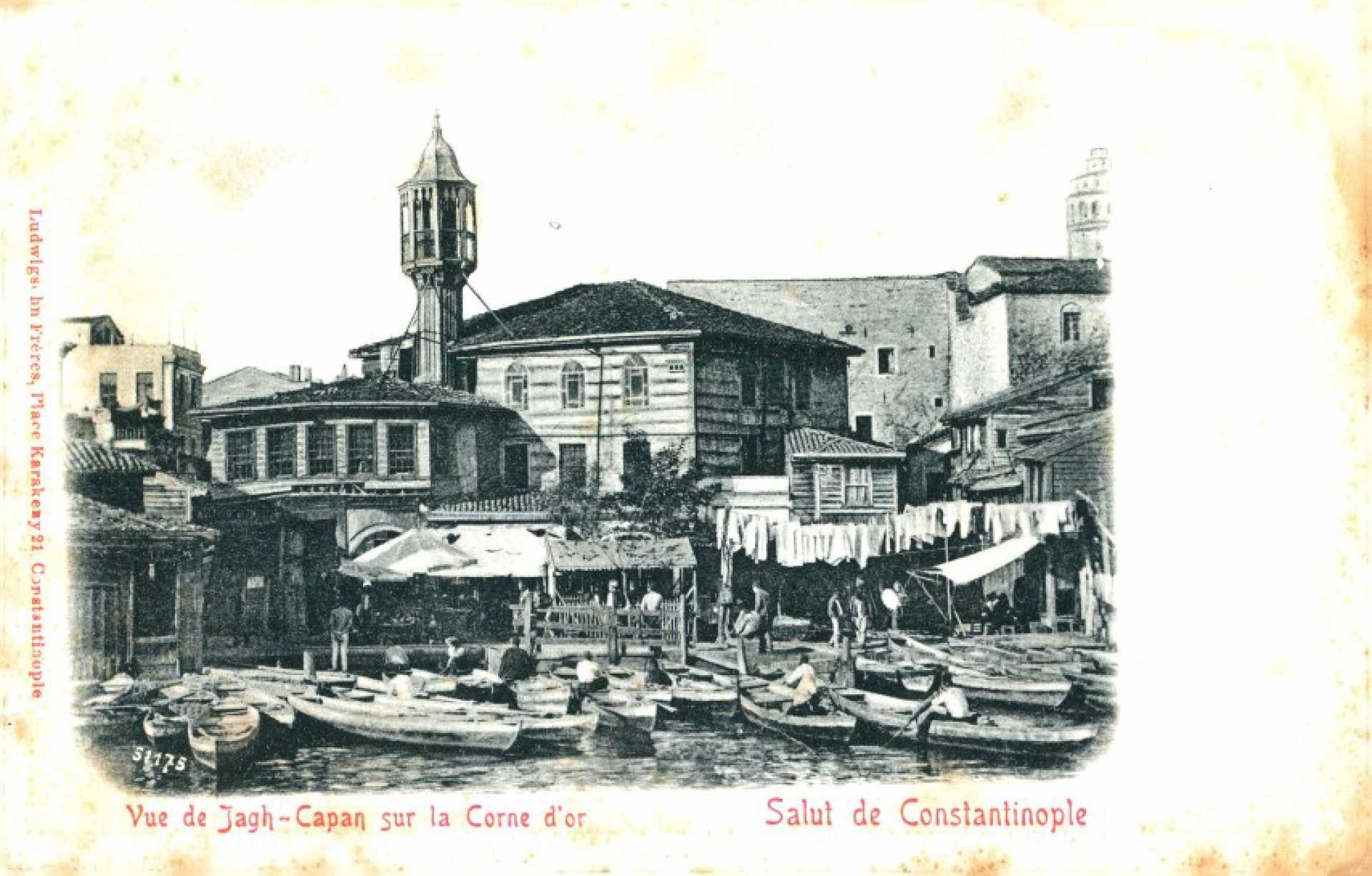 Vue de Jagh-Capan sur la Corne d'Or