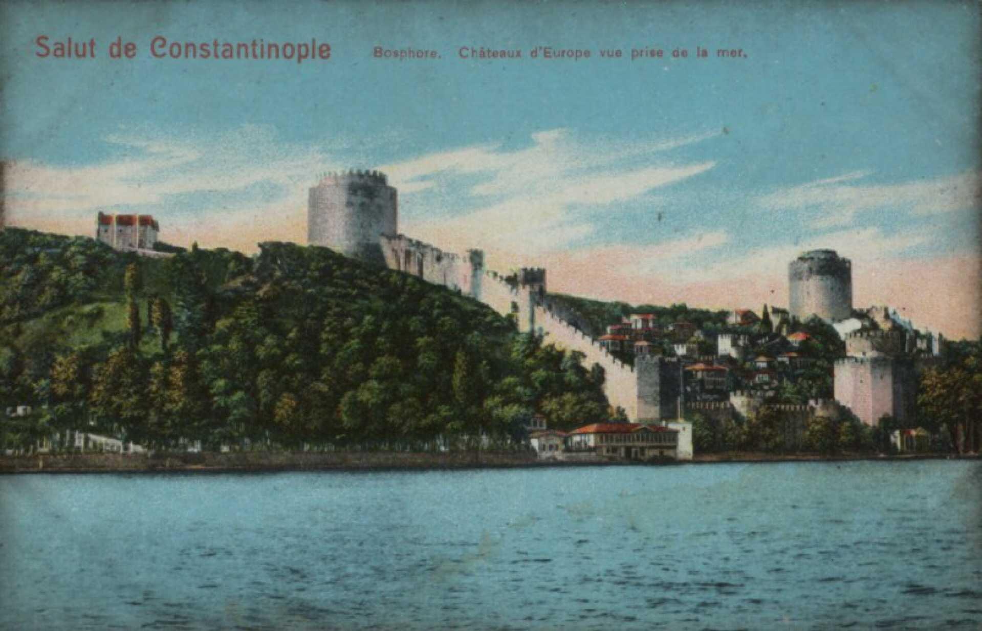 Chateaux d'Europe vue prise de la mer