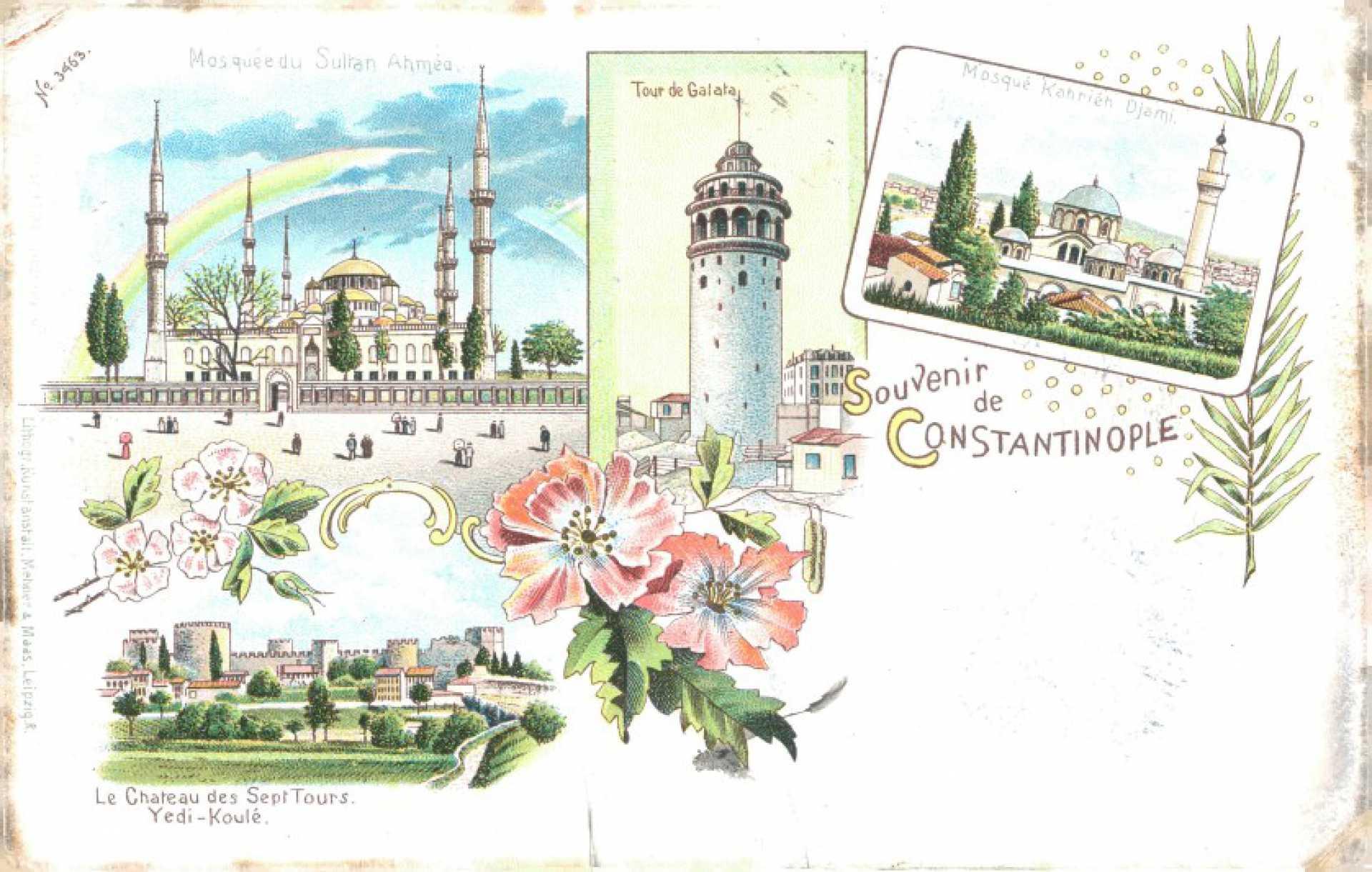 Mosquee Sultan Ahmed. Tour de Galata. Mosquee Kahrieh Djami
