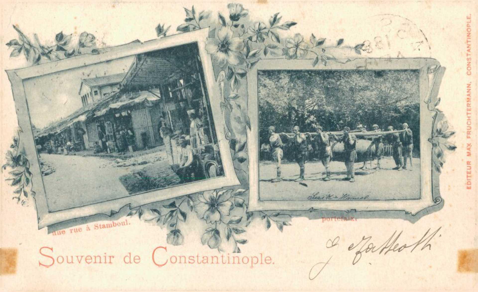 Une rue a Stamboul. portefaix
