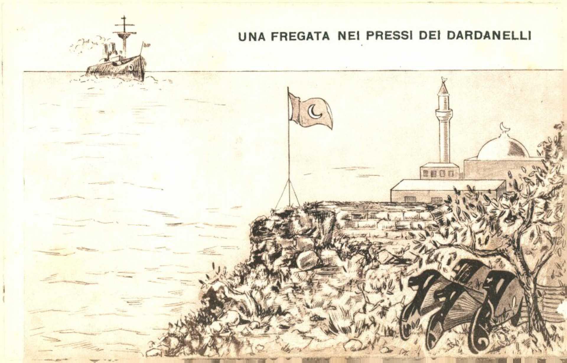 Una fregata nei pressi dei Dardanelli
