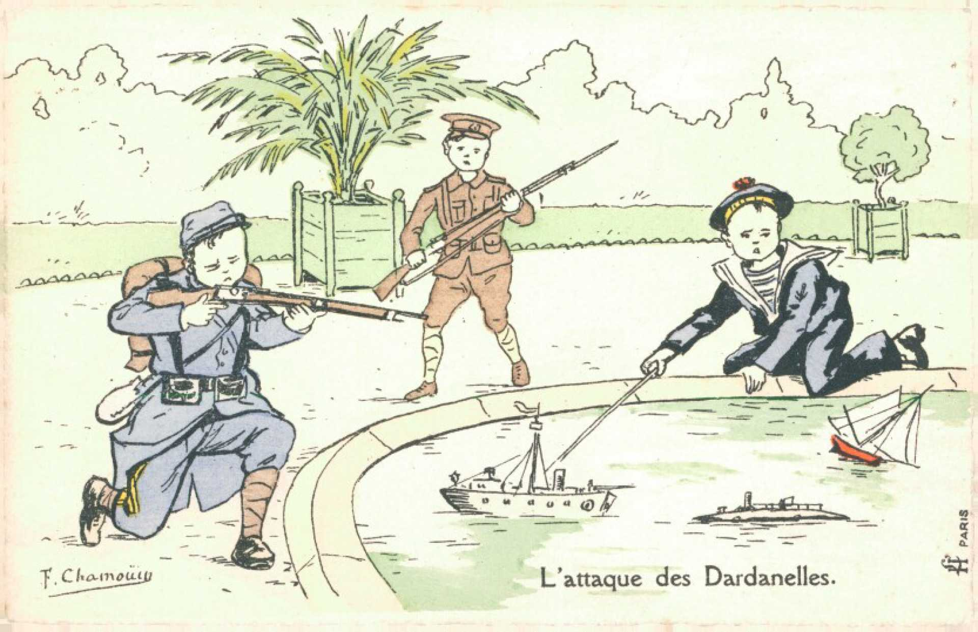 L'attaque des Dardanelles