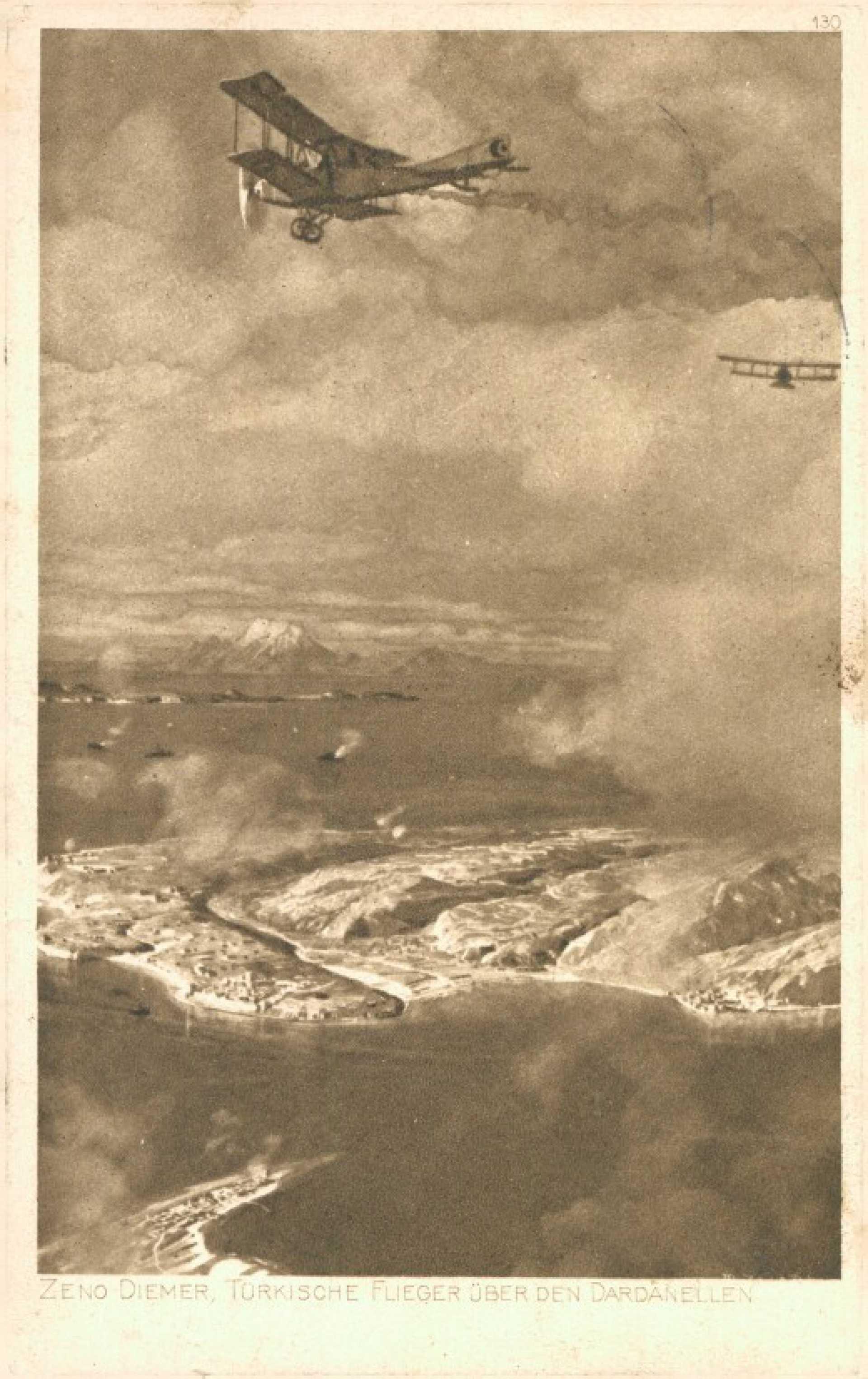 Zeno diemer. türkische flieger über den Dardanellen