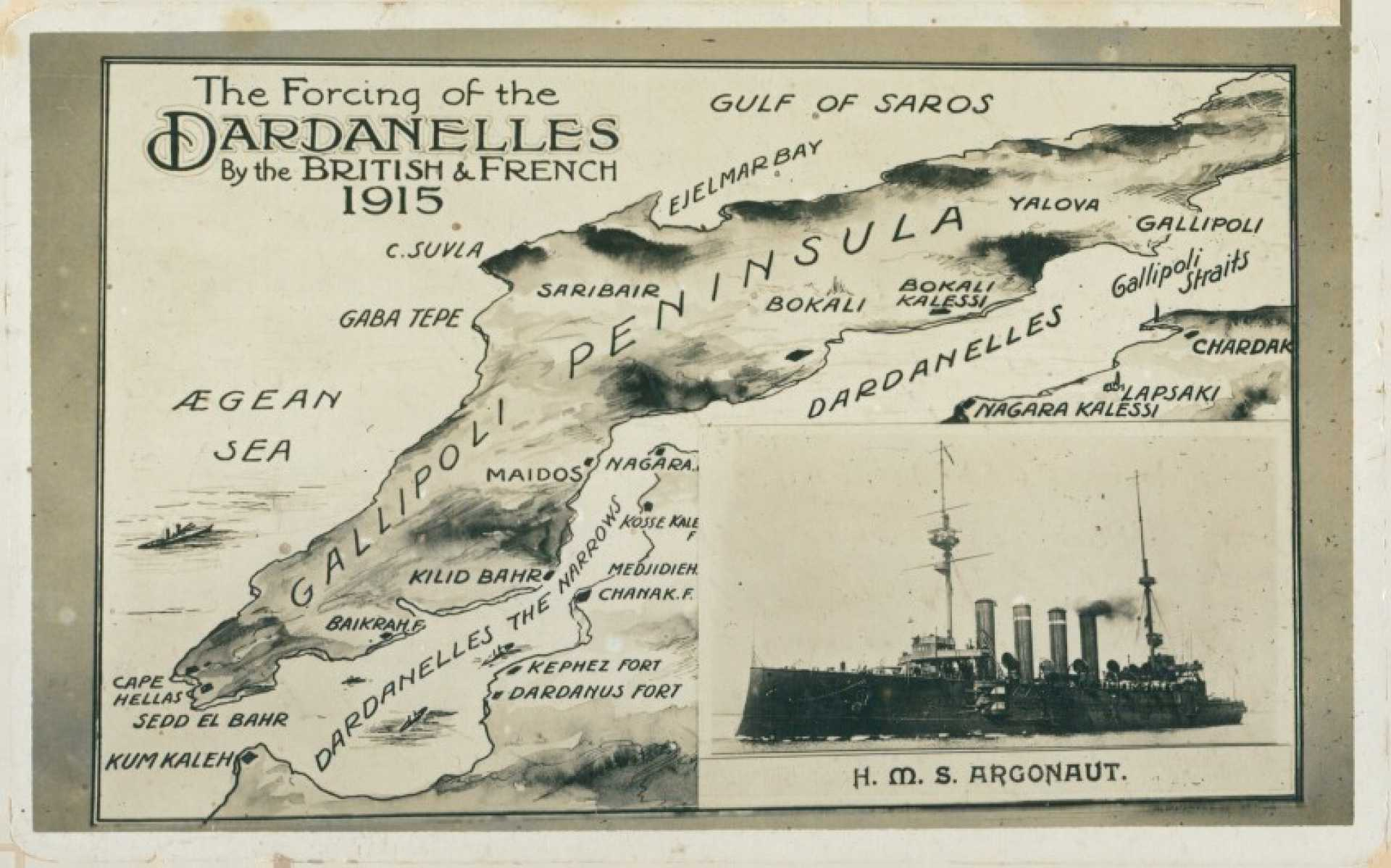 The forcing of the Dardanelles by the British & French 1915