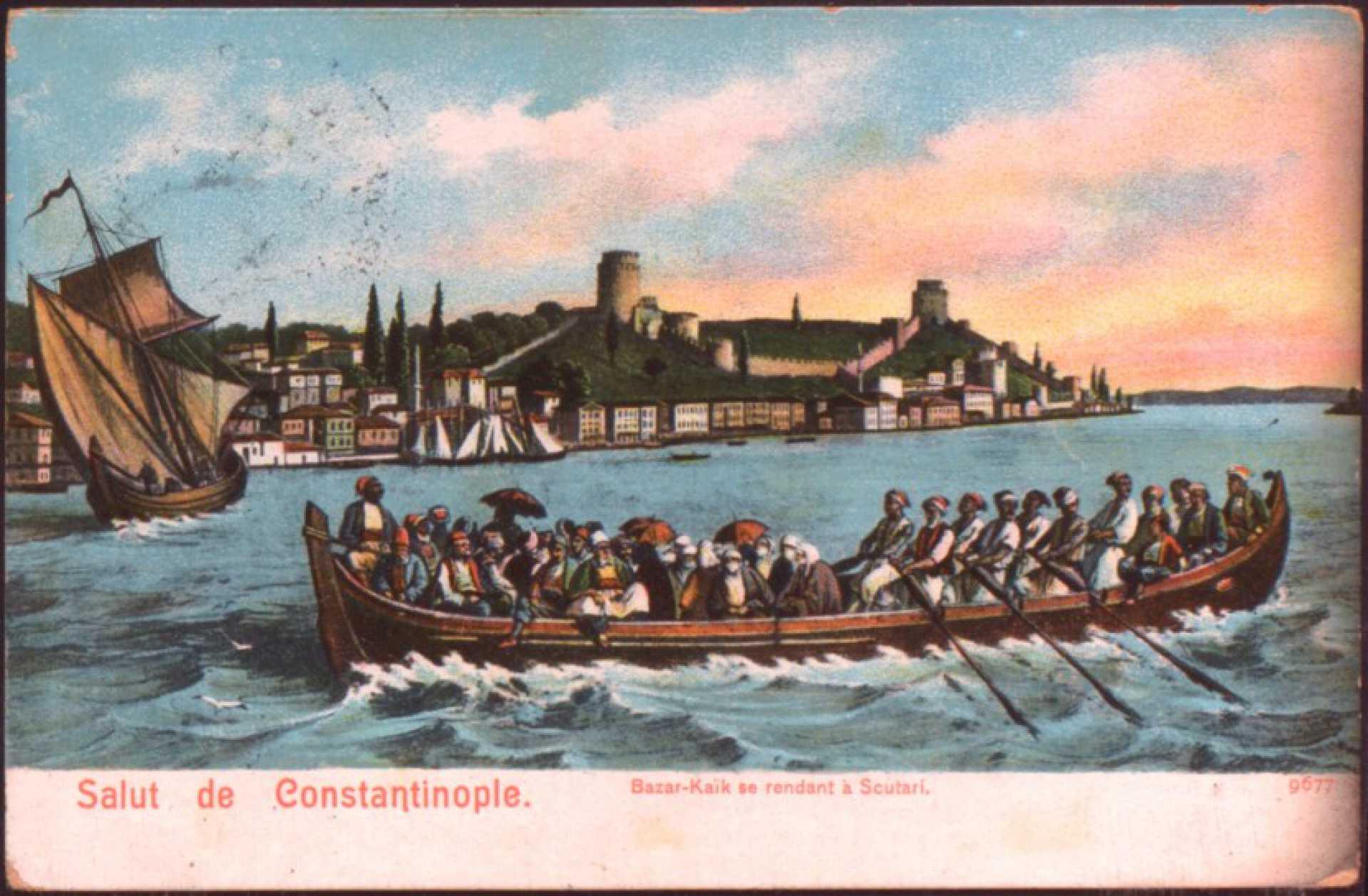 Bazar-kaik se rendant a Scutari