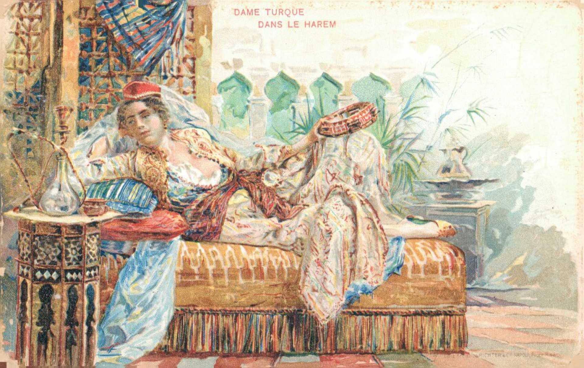 Dame Turque dans le harem