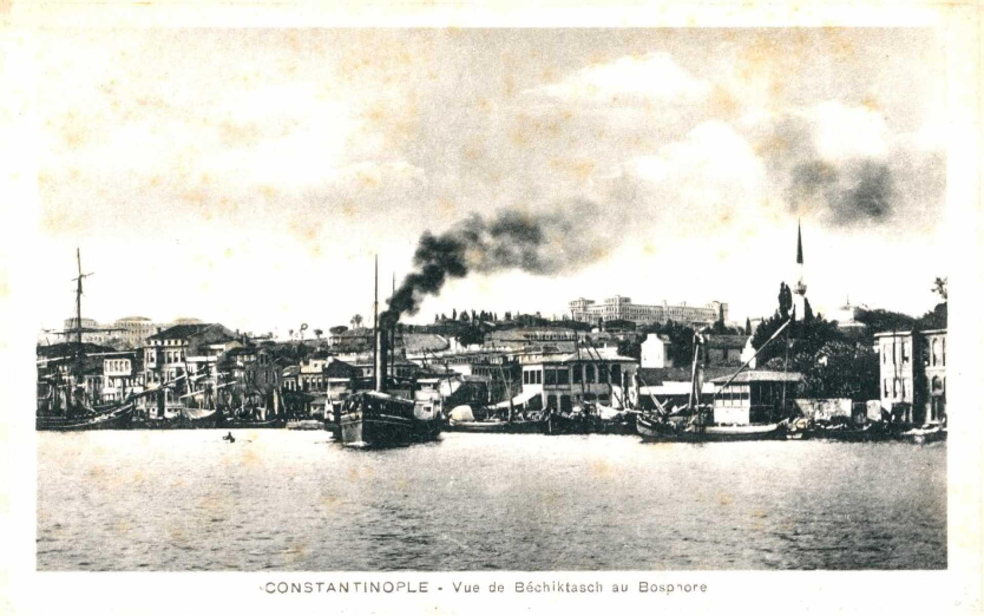 Vue de Bechiktasch au Bosphore