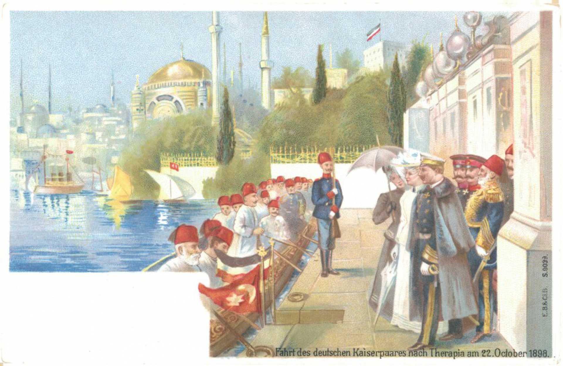 Fahrt des deutschen Kaiserpaares nach Therapia am 22 October 1898