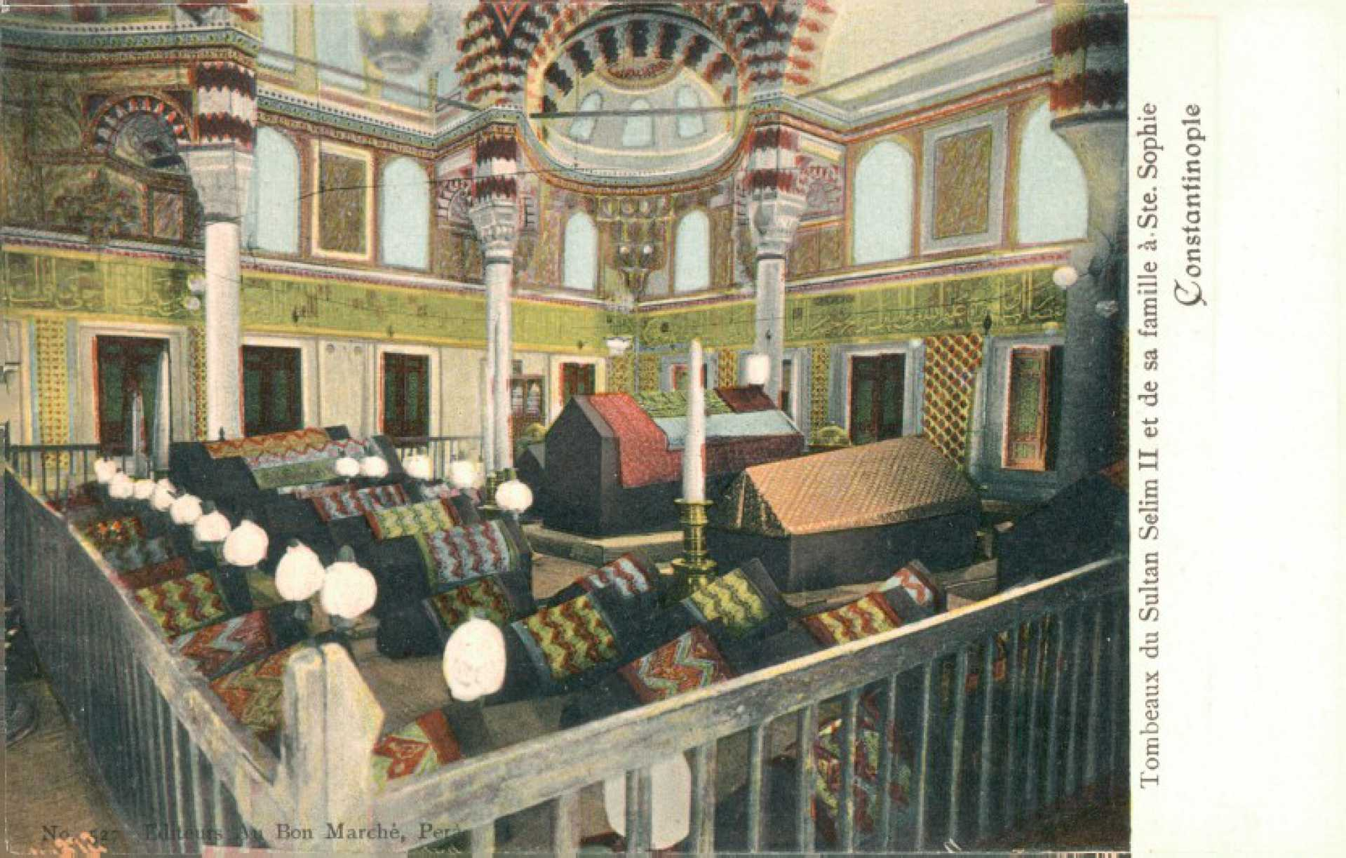 Tombeaux des Sultans Selim II et de sa famille a Ste. Sophie