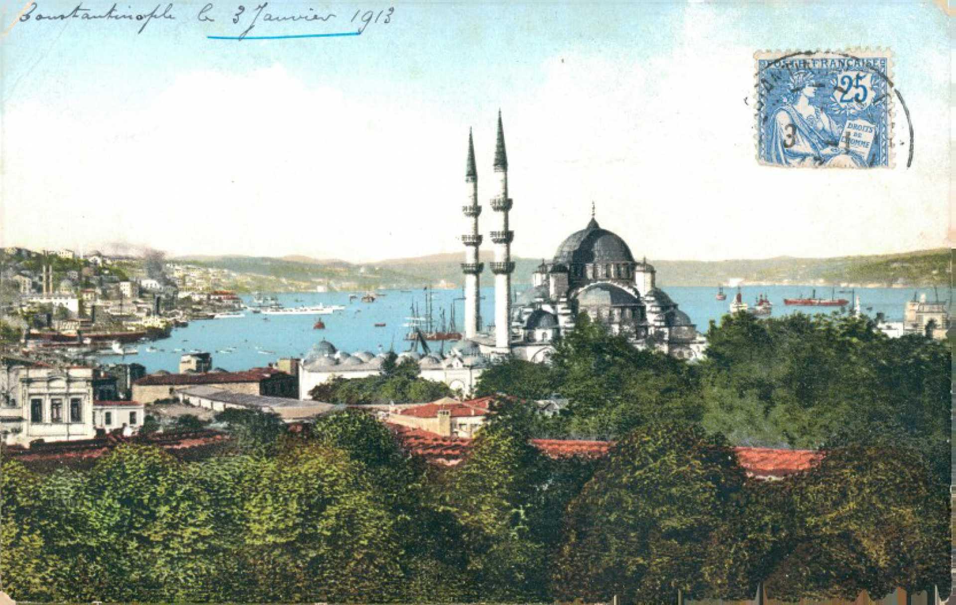 Mosquee jeni-djami et le port