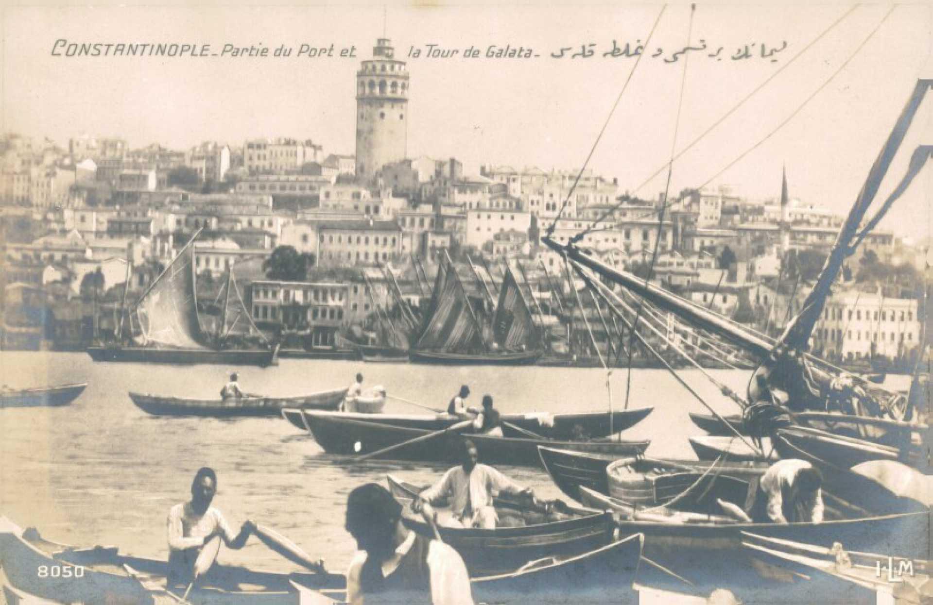 Partie du Port et la Tour de Galata