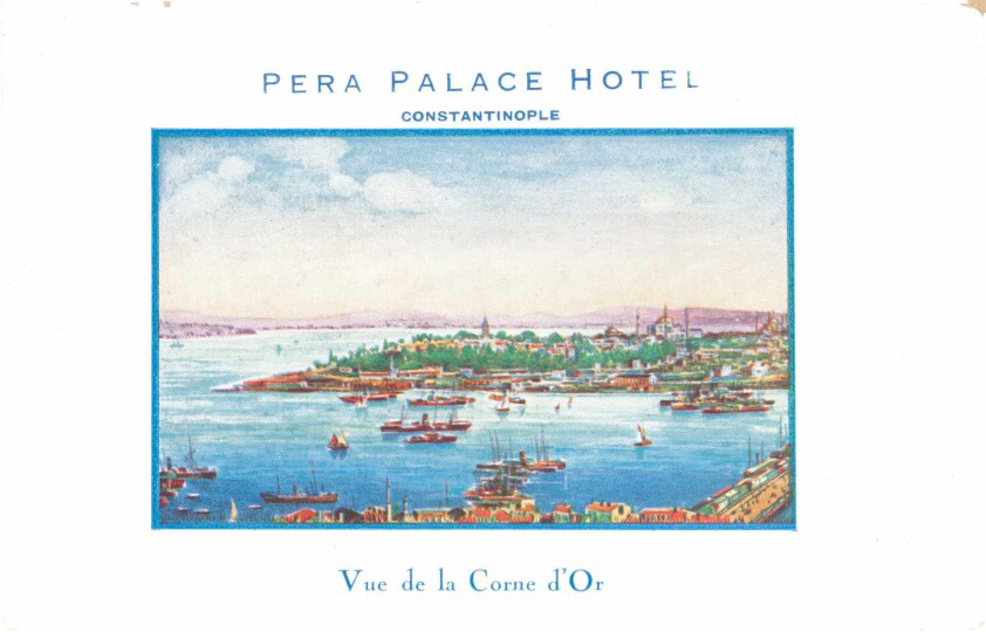 Pera Palace Hotel. Vue de la Corne d'Or