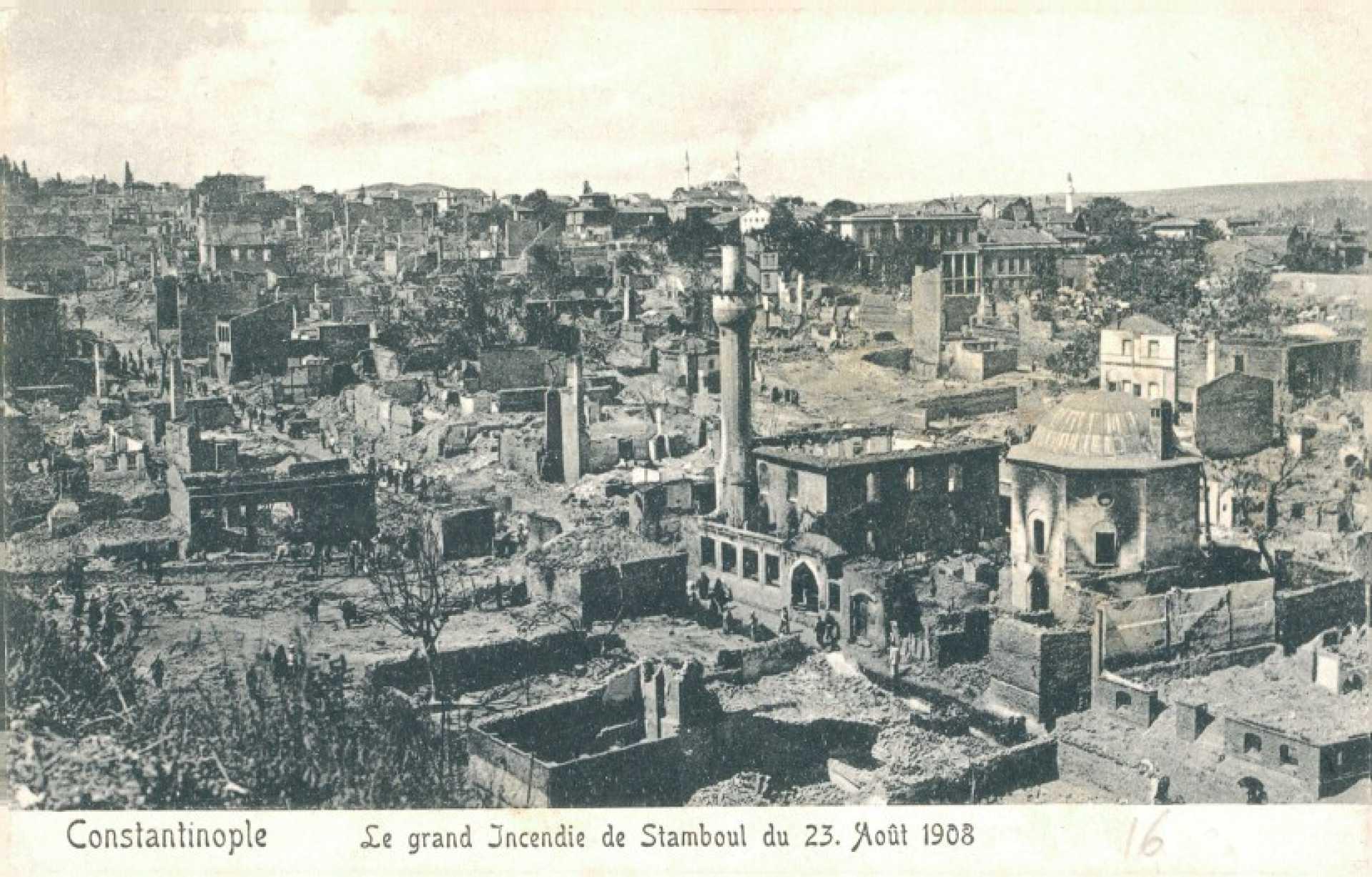 Le grand İncendie de Stamboul du 23. Aout 1908