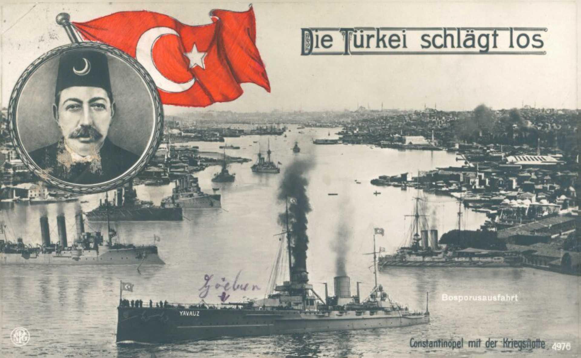 Die Türkei Schlägt los. Constantinapel mit der Kriegsflotte