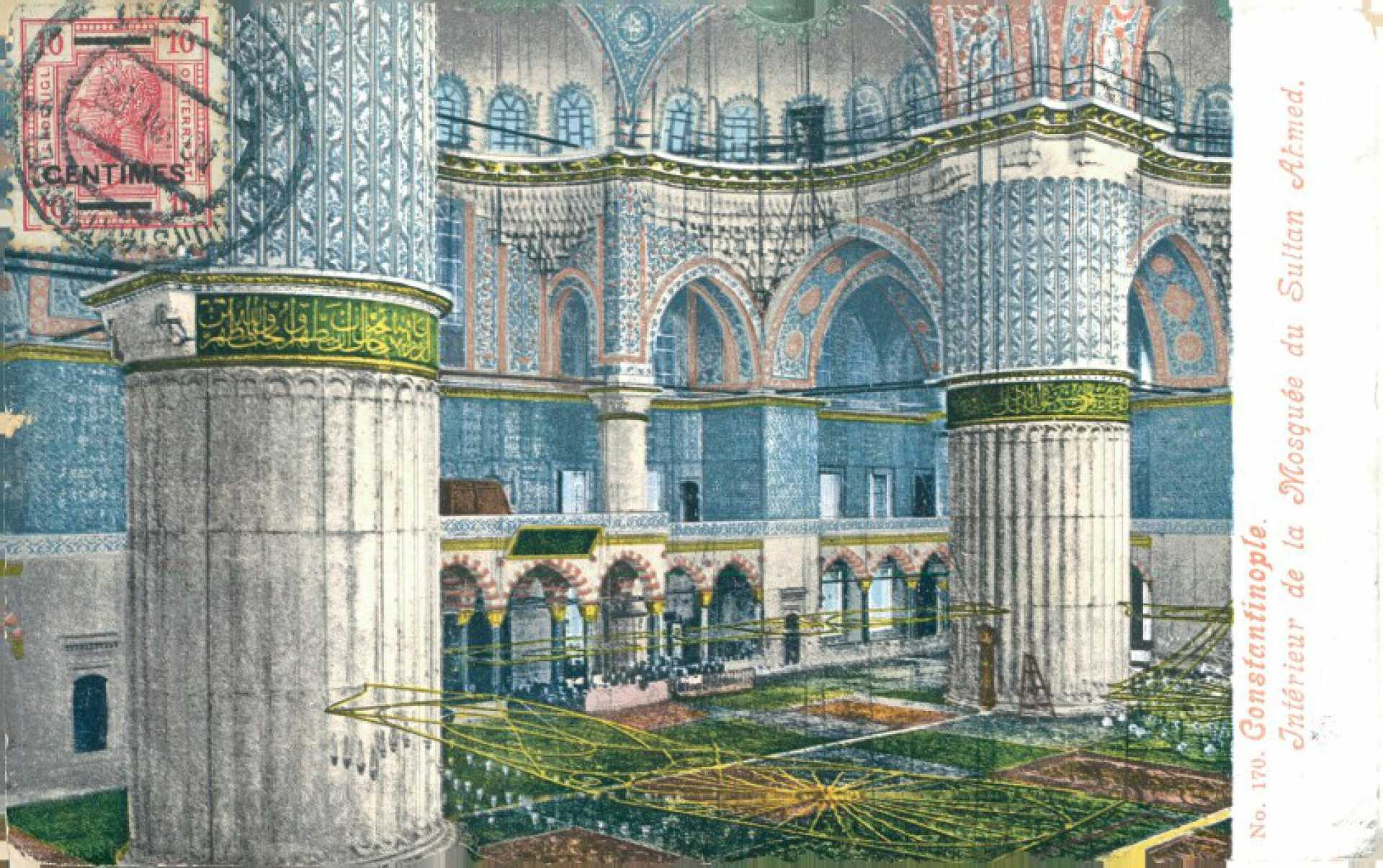 İnterieur de la Mosquee du Sultan Ahmed.
