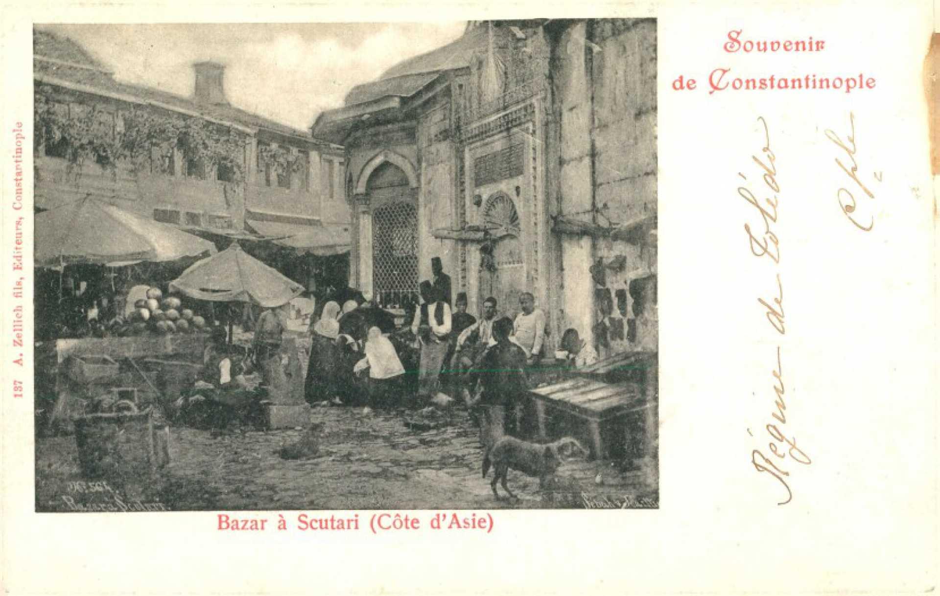 Bazar à Scutari ( Cote d'Asie)