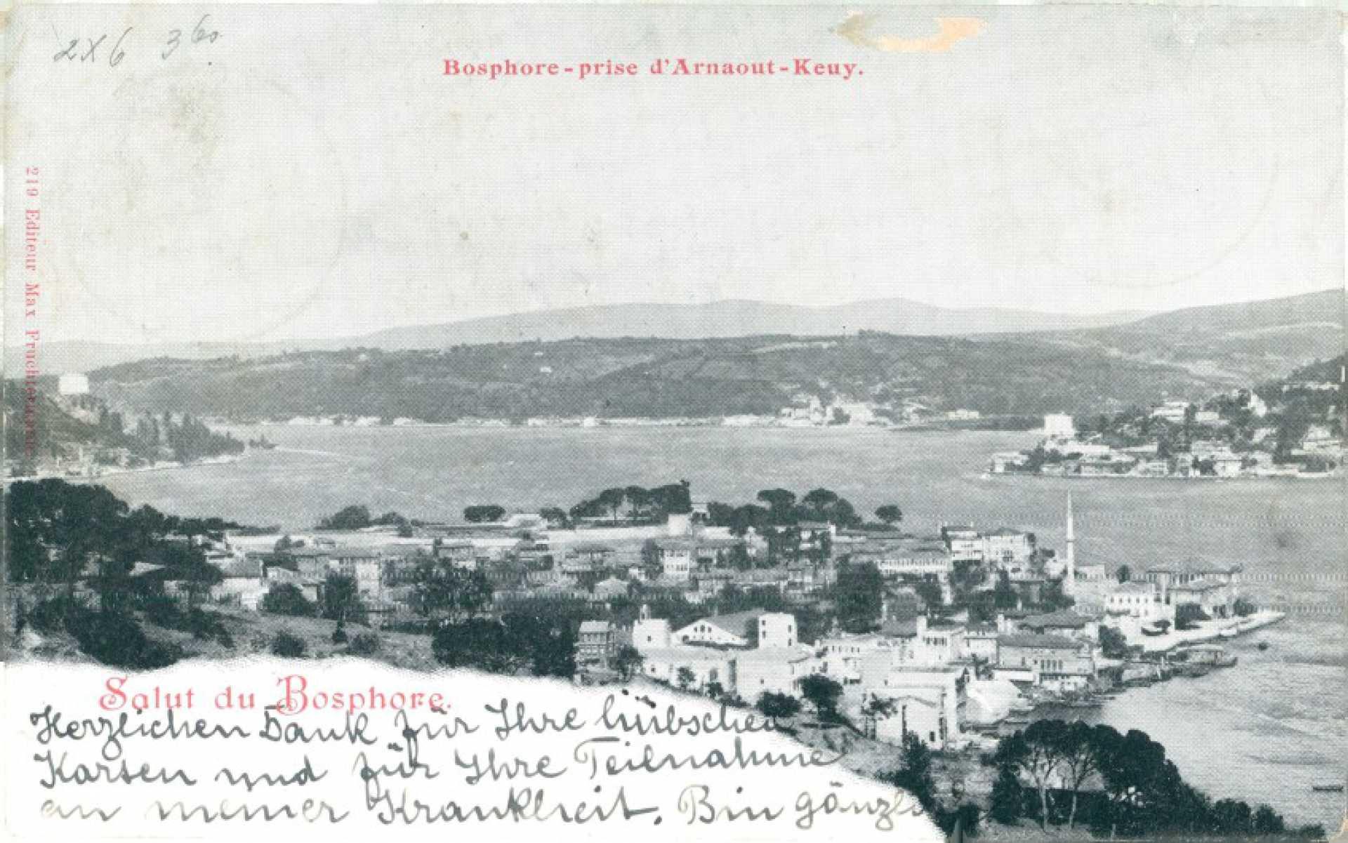 Bosphore- prise d'Arnaout-Keuy