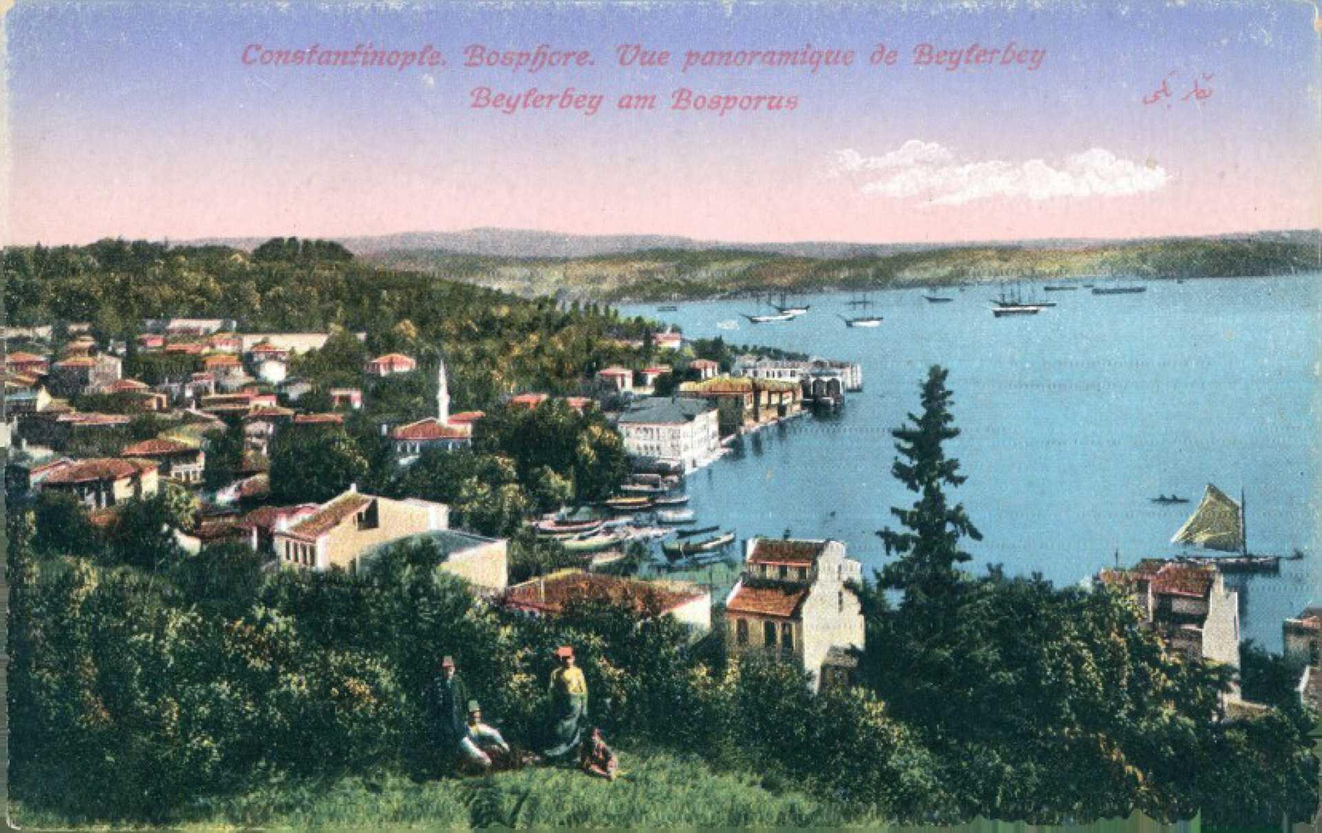 Vue panoramique du Beylerbey. Beylerbey am Bosporus
