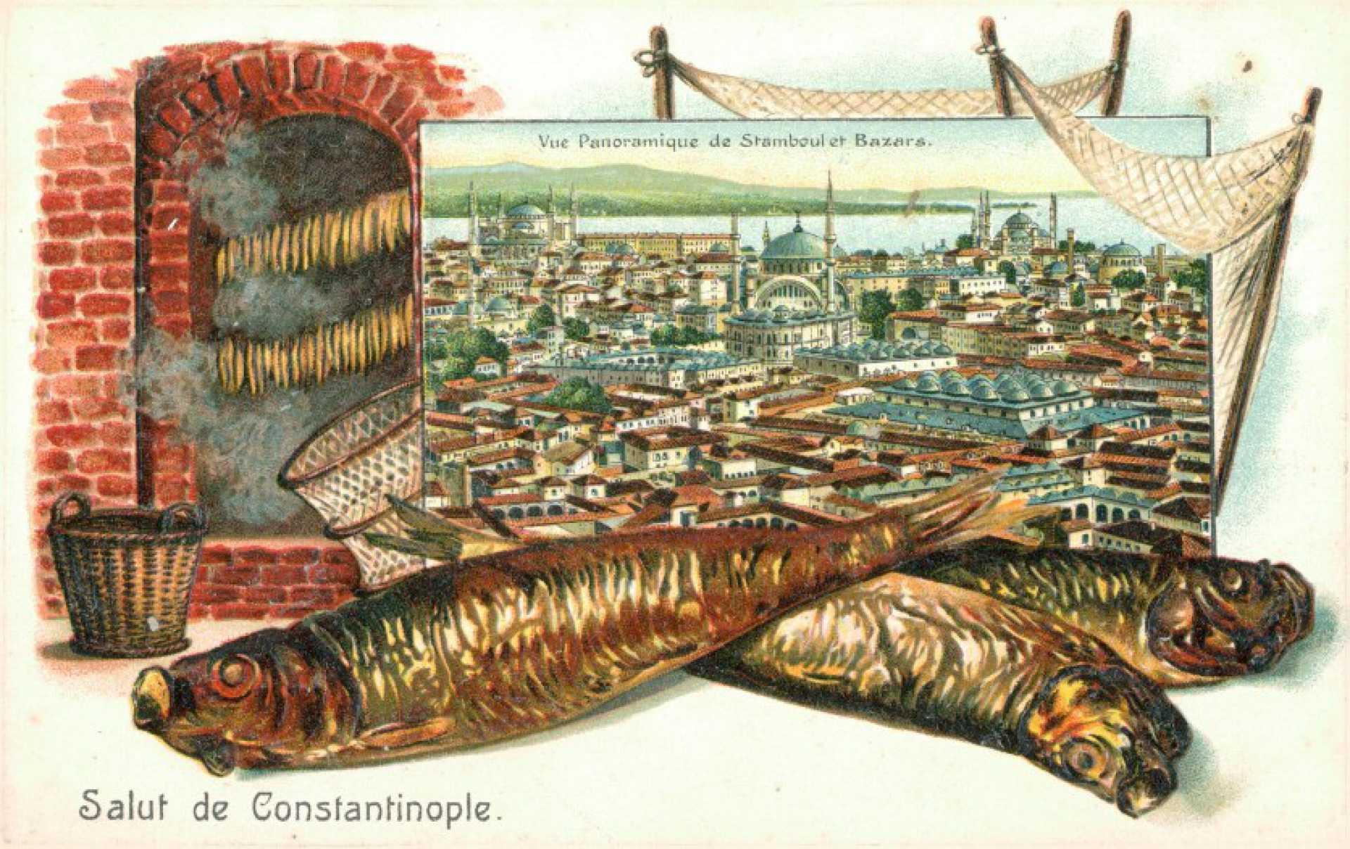 Vue Panoramique de Stamboul et Bazars.