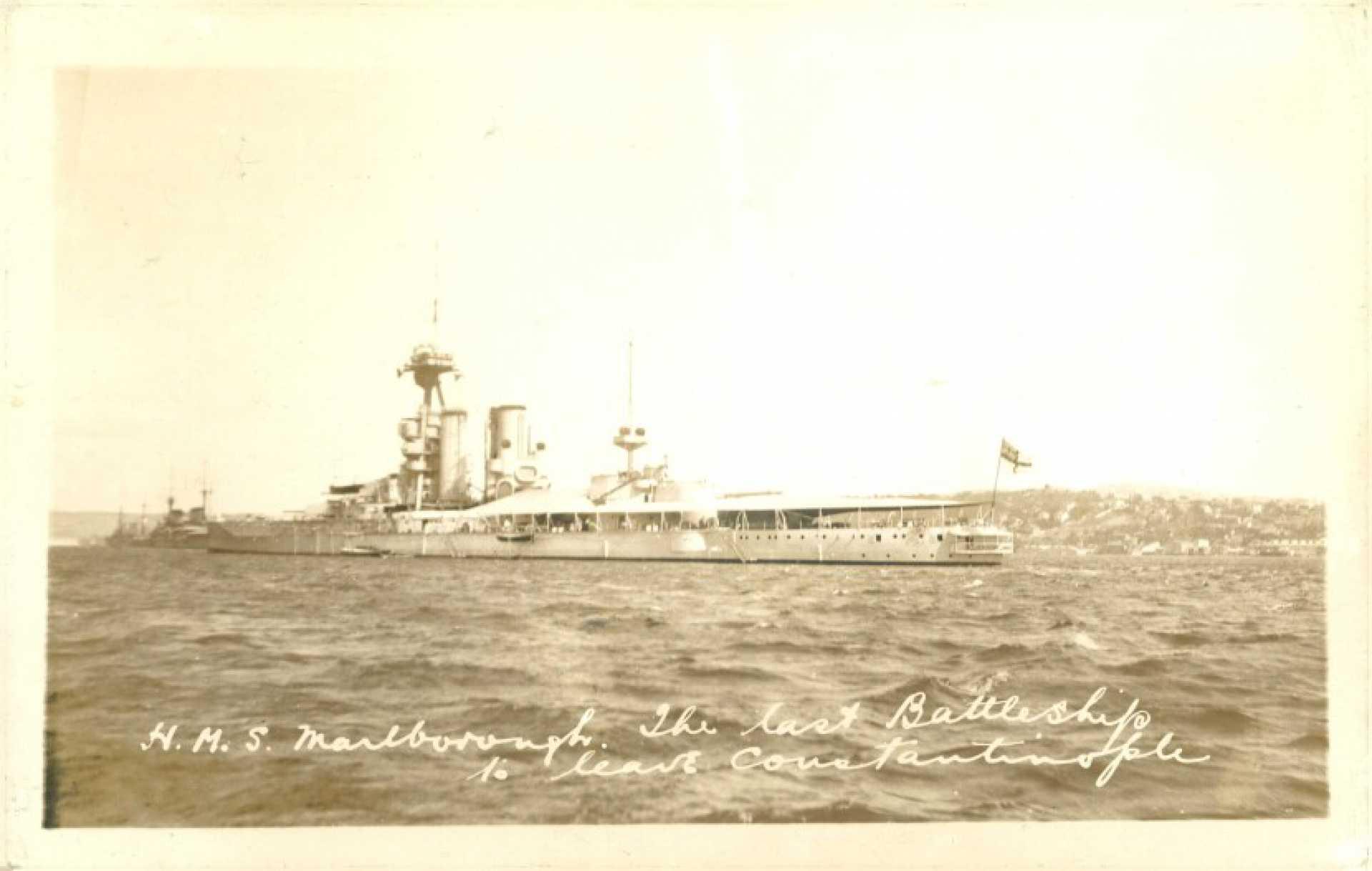 Last battleship leaving İstanbul