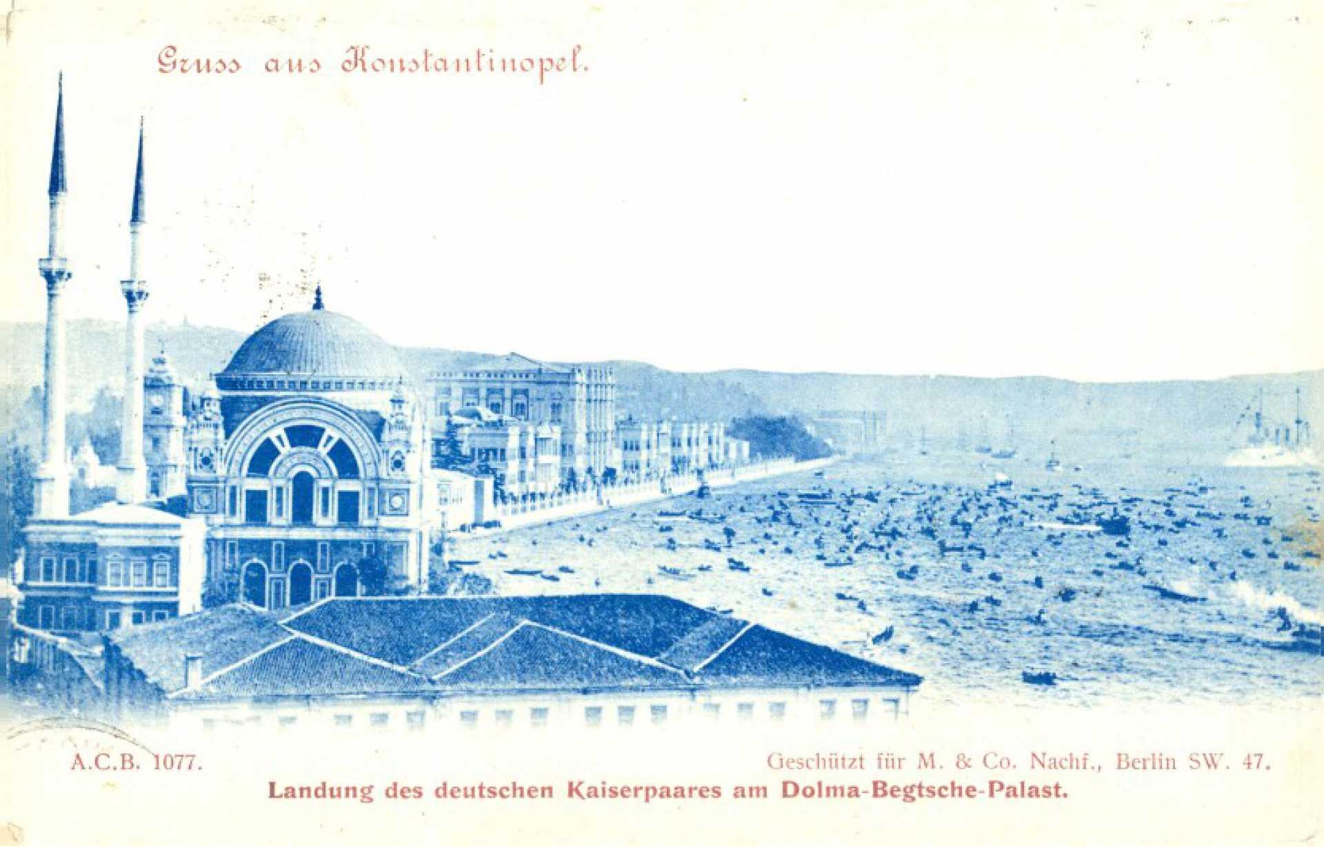 Landung des deutschen Kaiserpaares am Dolma-Batsche- Palast.