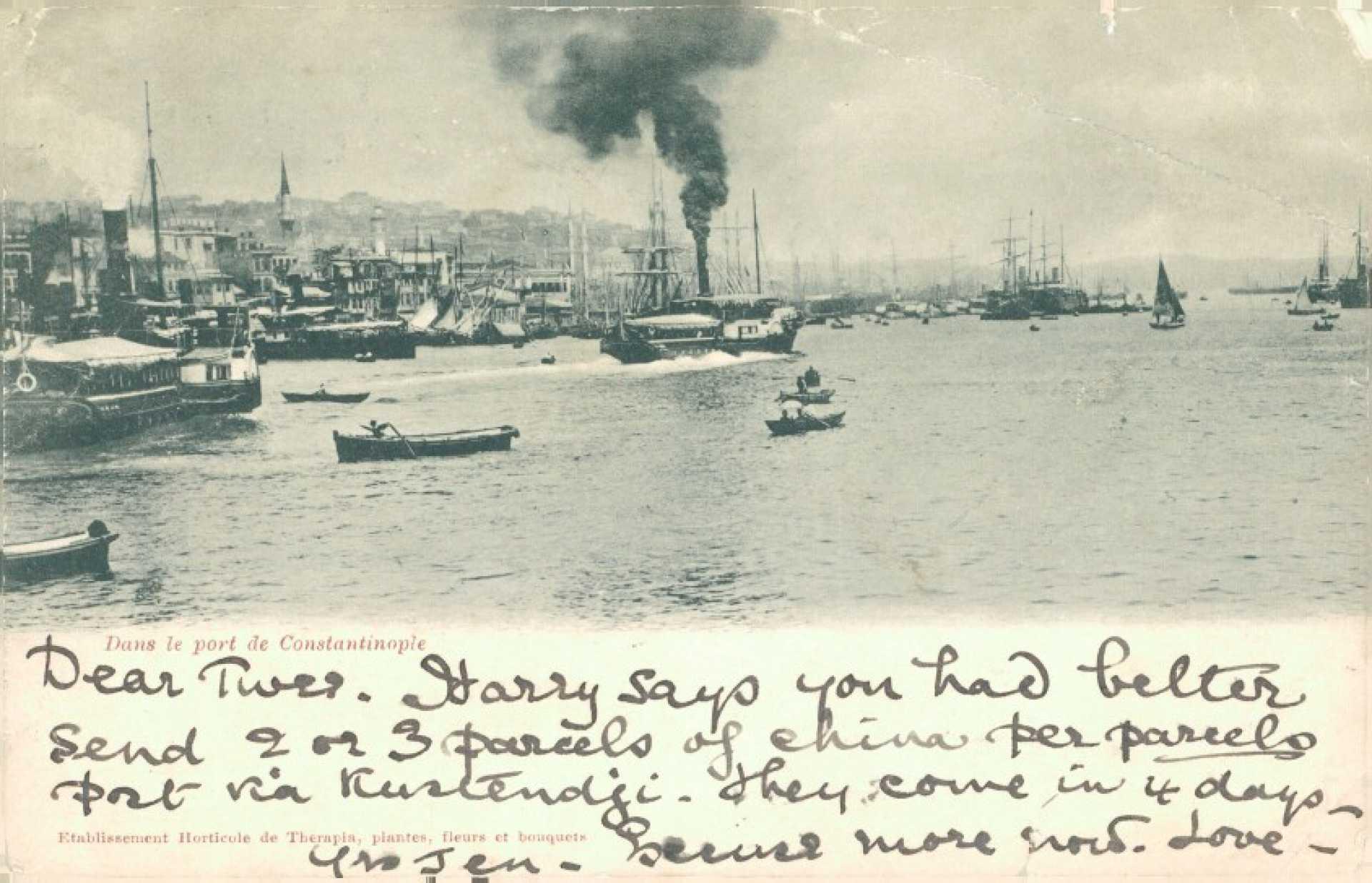 Dans le port de Constantinople