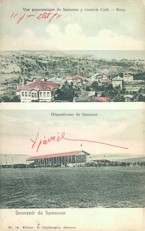 Vue panoramique de Samsoun y compris Cadi-Keuy