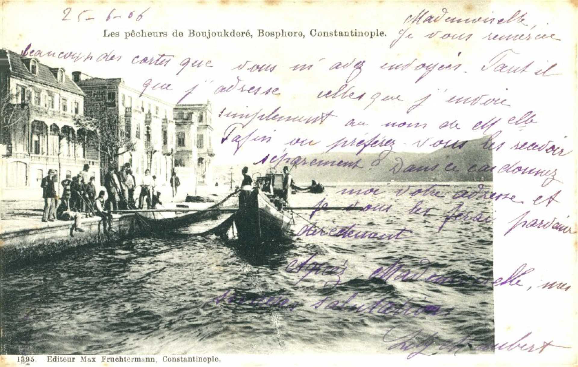 Les pecheurs de Boujoukdere. Bosphore