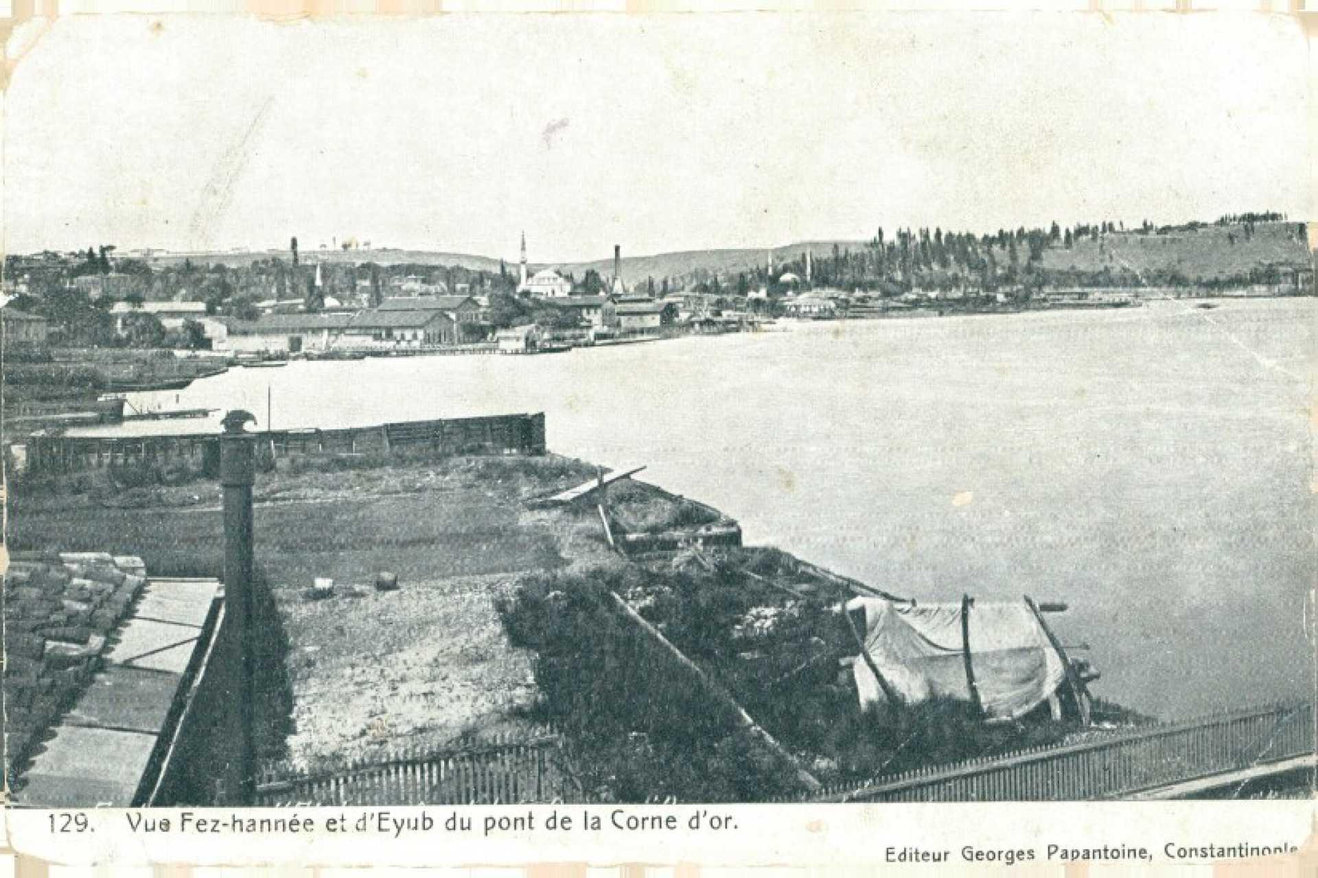 Vue fez-hannee et d'Eyub du pont de la Corne d'Or