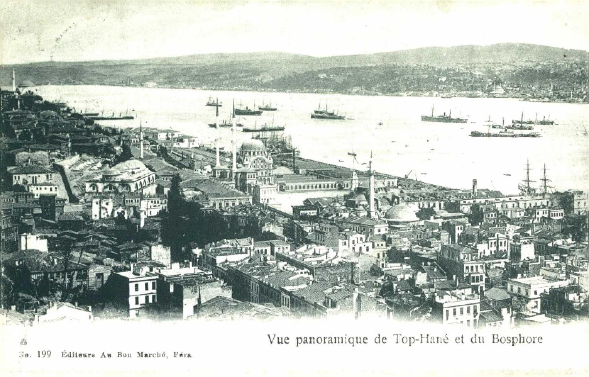Vue panoramique de Top-hane et du Bosphore