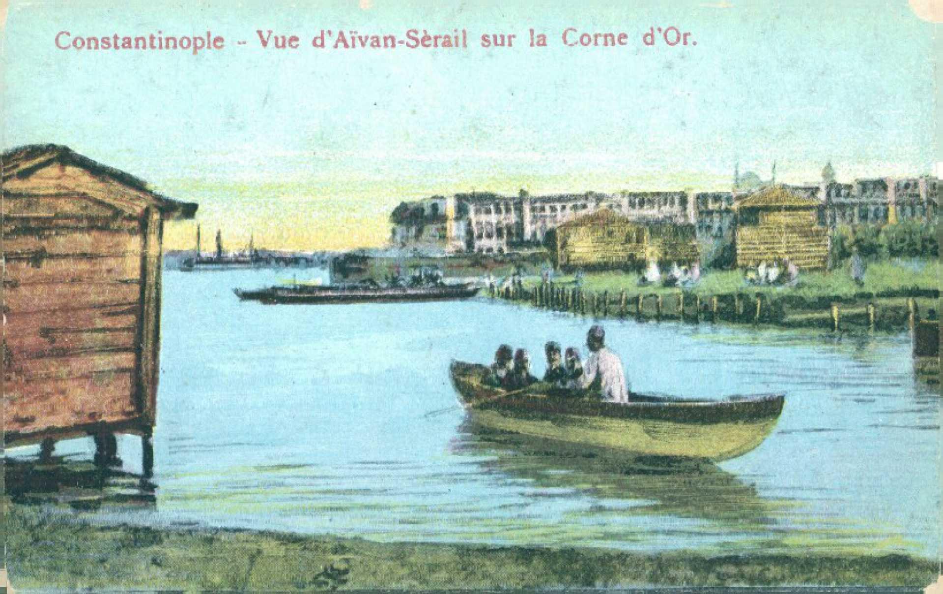 Vue d'Aivan-Serail sur la Corne d'Or