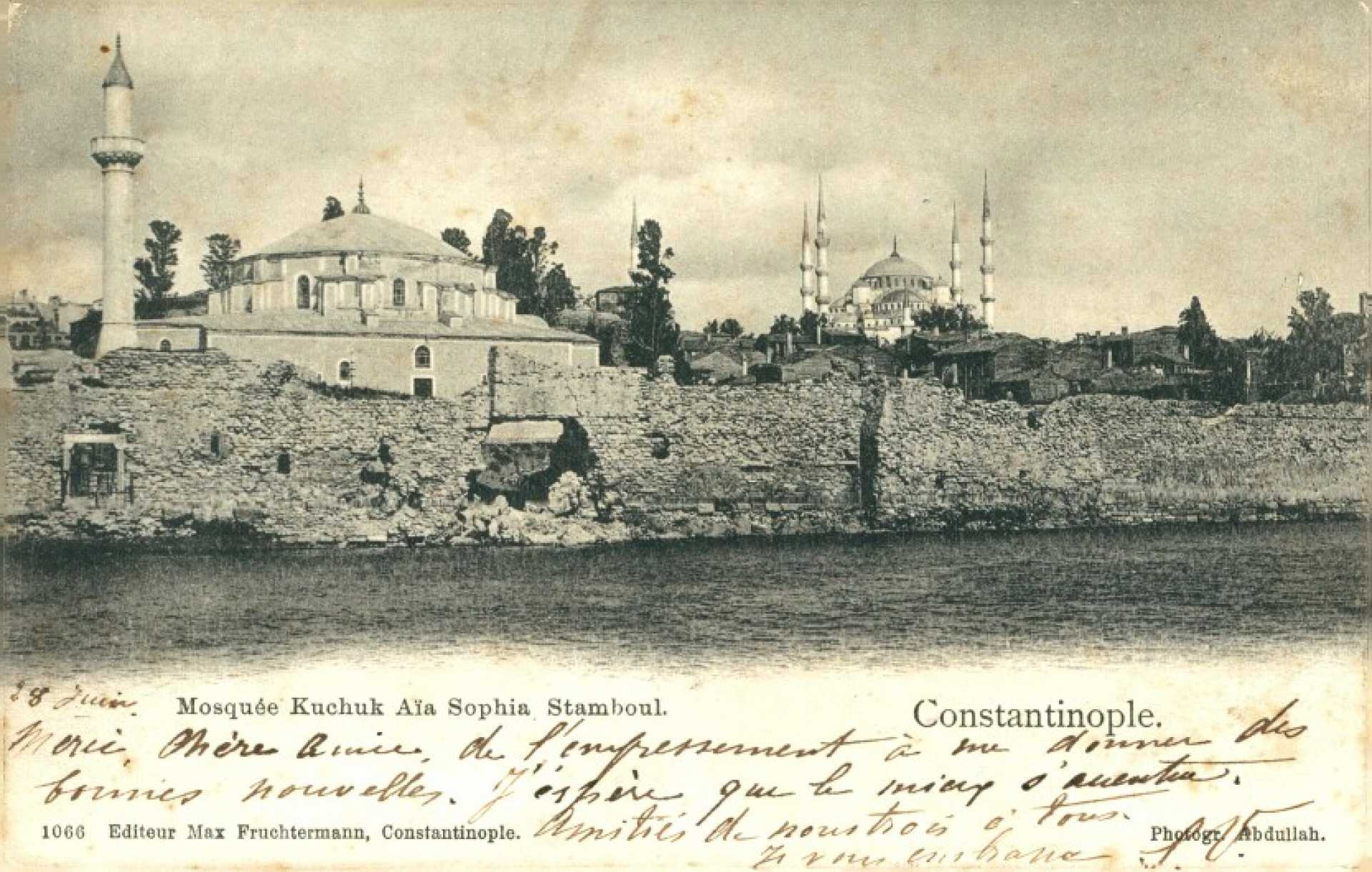 Mosquee Kuchuk Aia Sophia Stamboul
