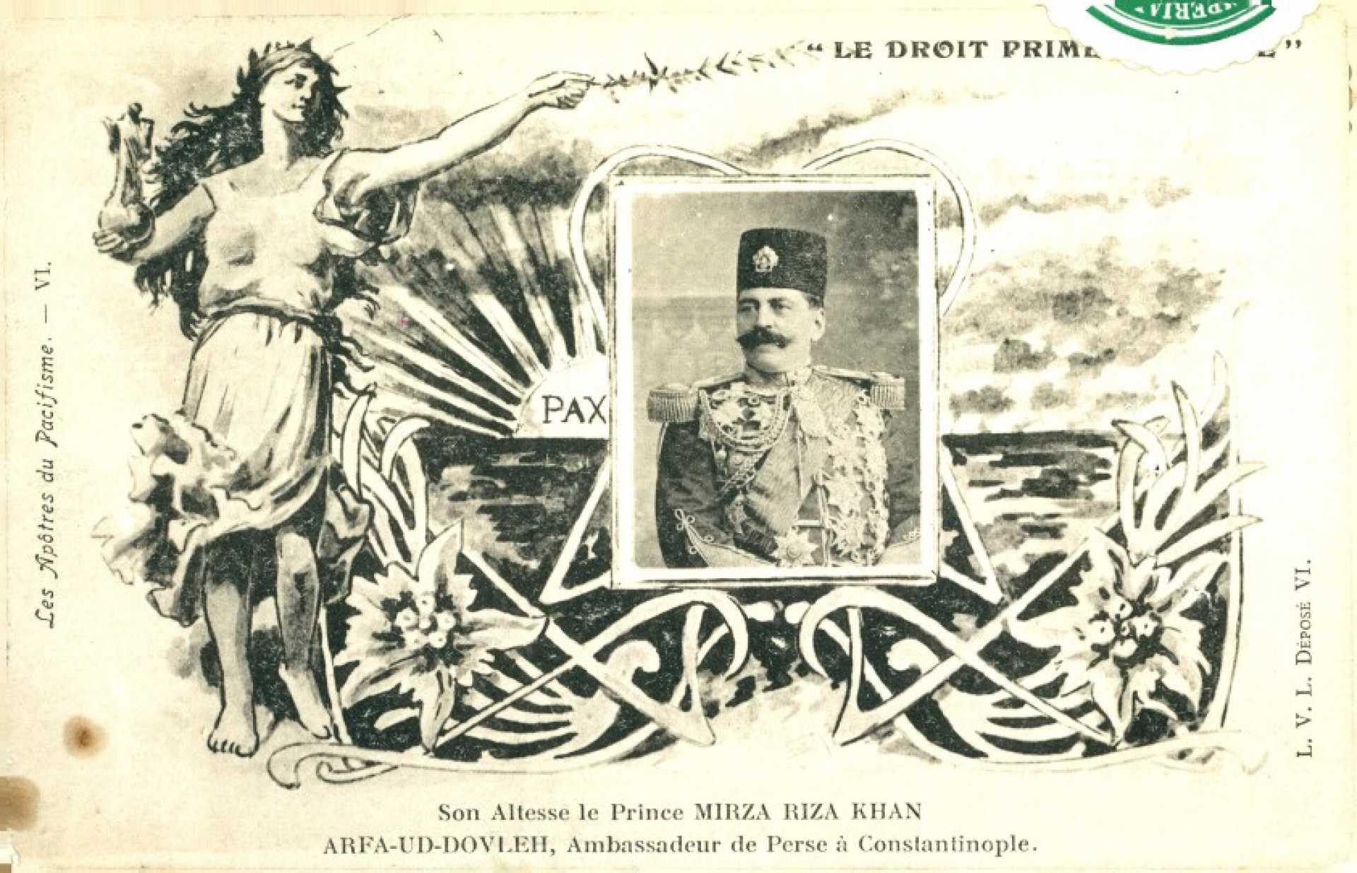 Son Altesse le Prince Mırza Rıza khan Arfa-Ud-Dovleh. Ambasadeur de Persse a Constantinople
