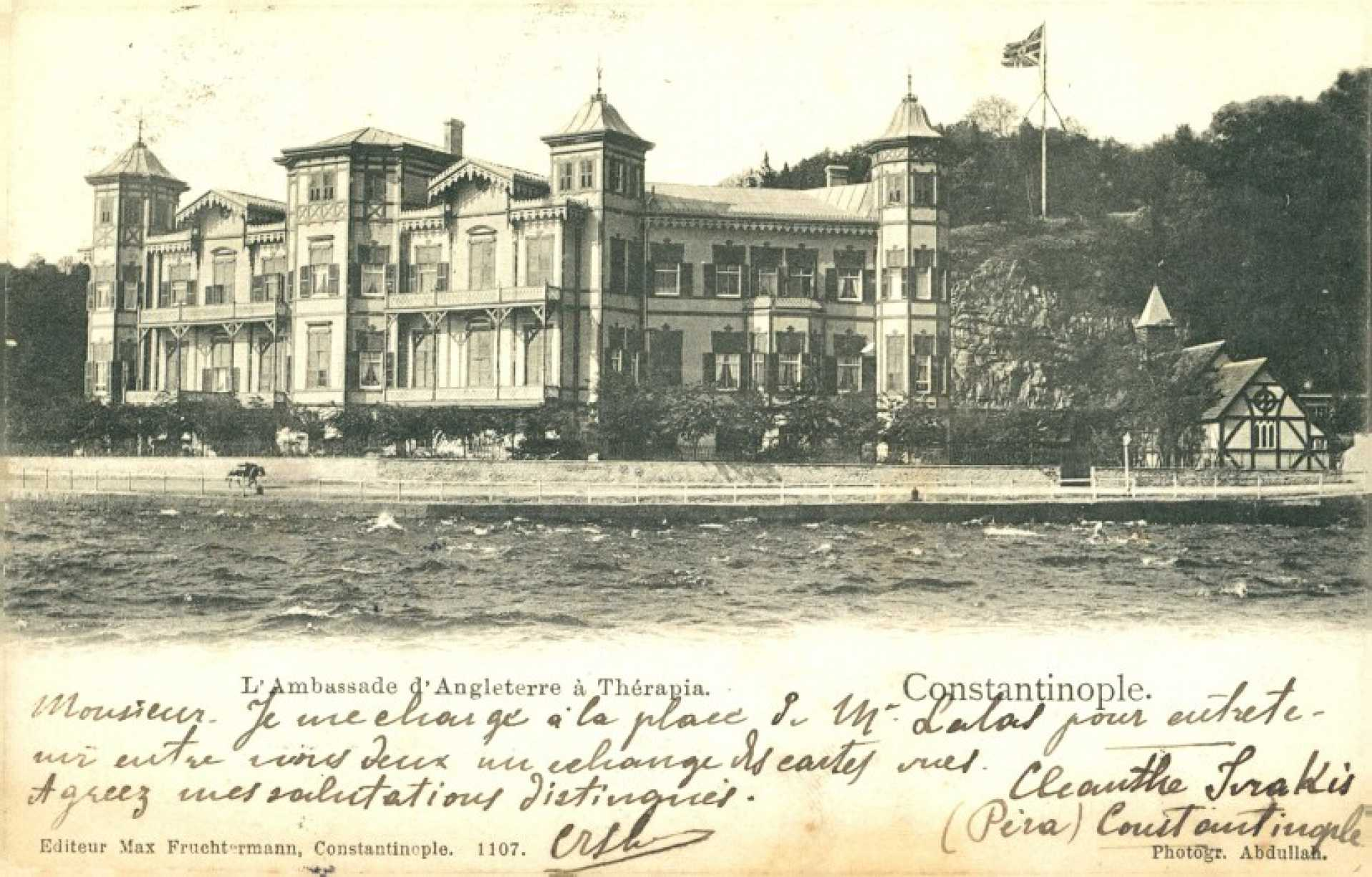 L'Ambassade d'Angleterre a Therapia. Constantinople
