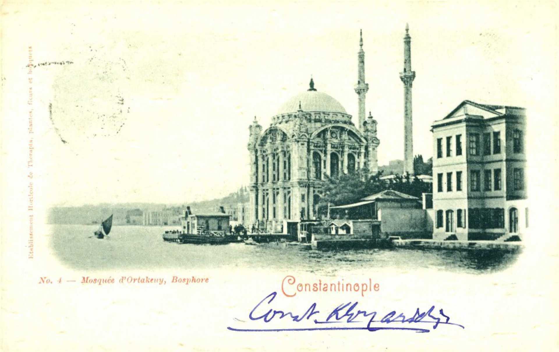 Mosquee d'Ortakeny. Nosphore Constantinople